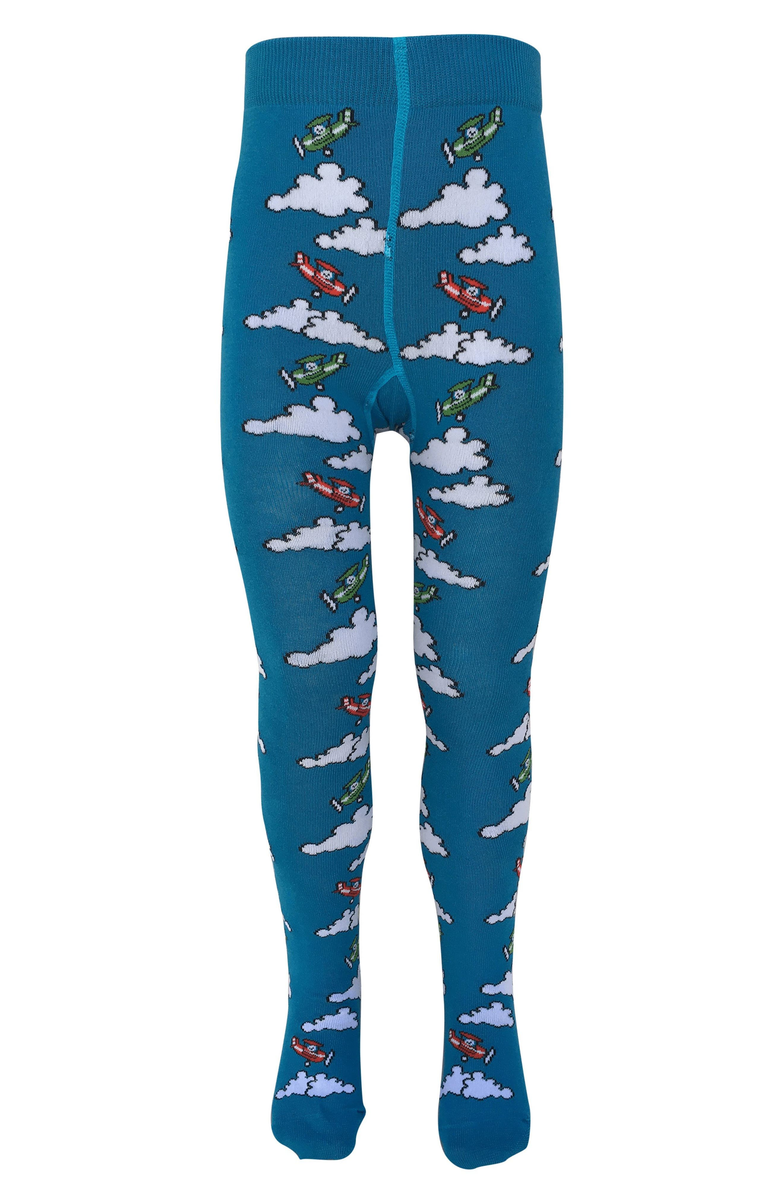 Plane Tights,                         Main,                         color, Mid Blue