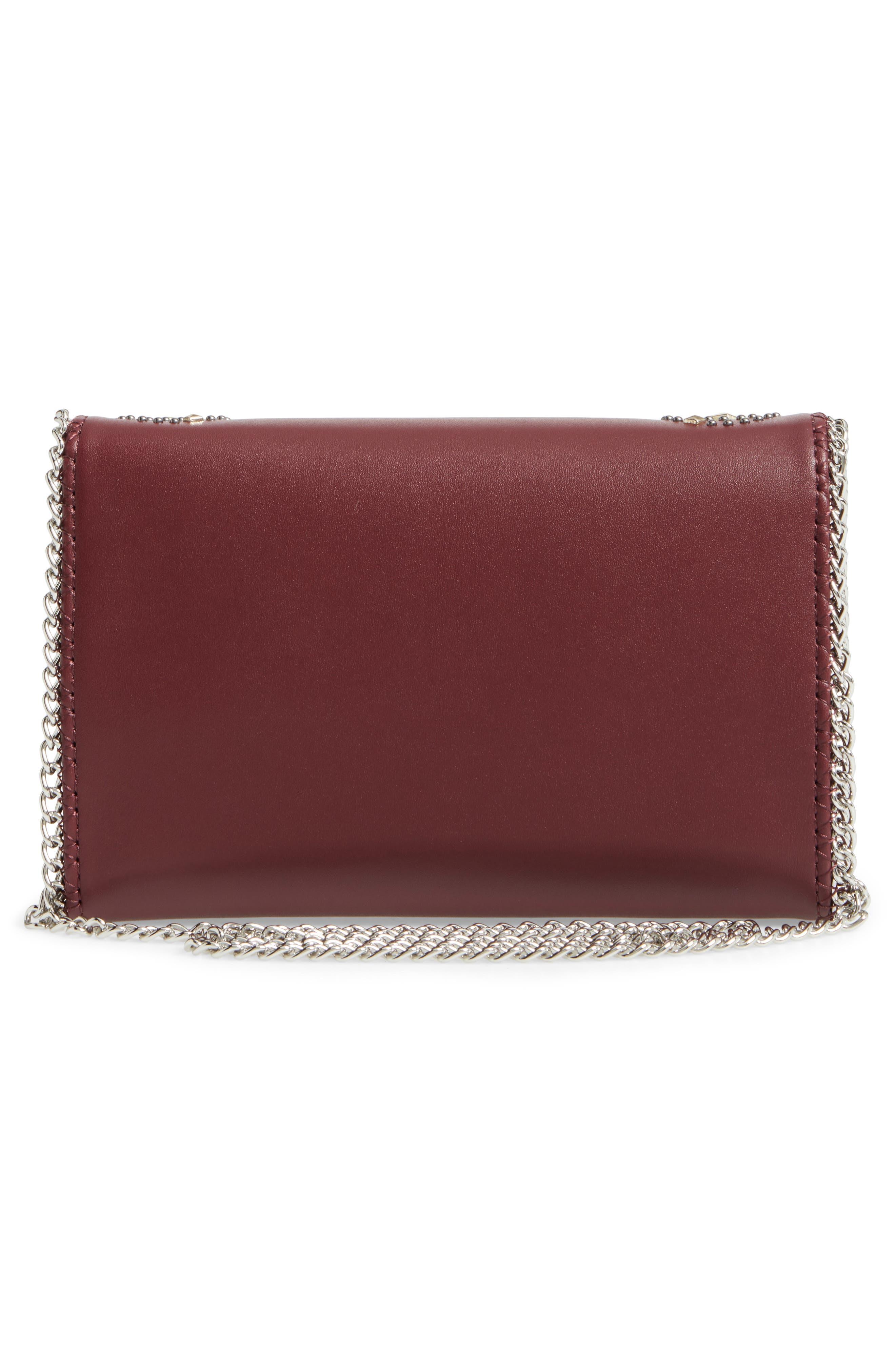 Alternate Image 3  - Chelsea28 Fleur Studded Faux Leather Convertible Clutch