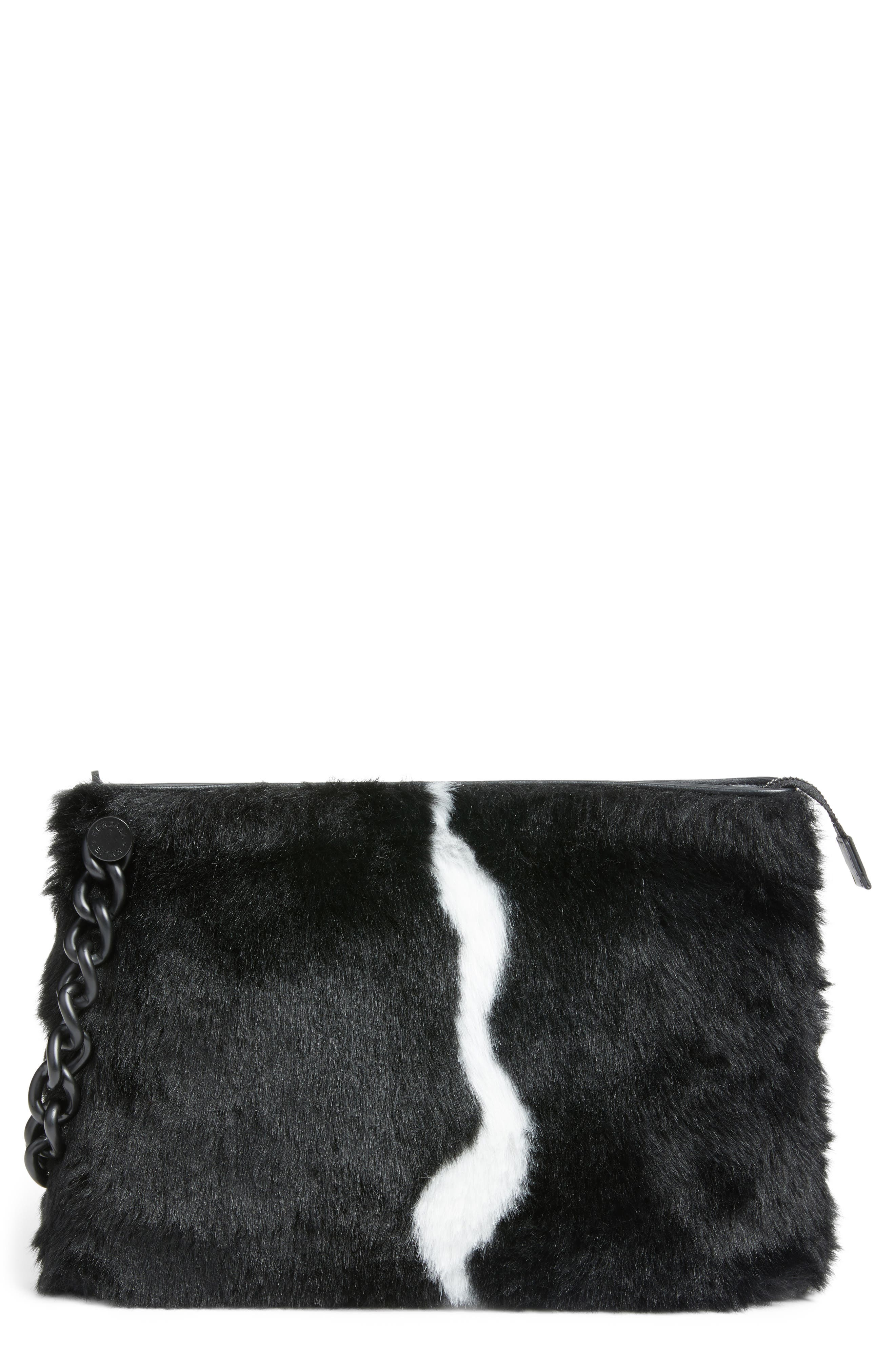 Alternate Image 1 Selected - KENDALL + KYLIE Corey Faux Fur Clutch