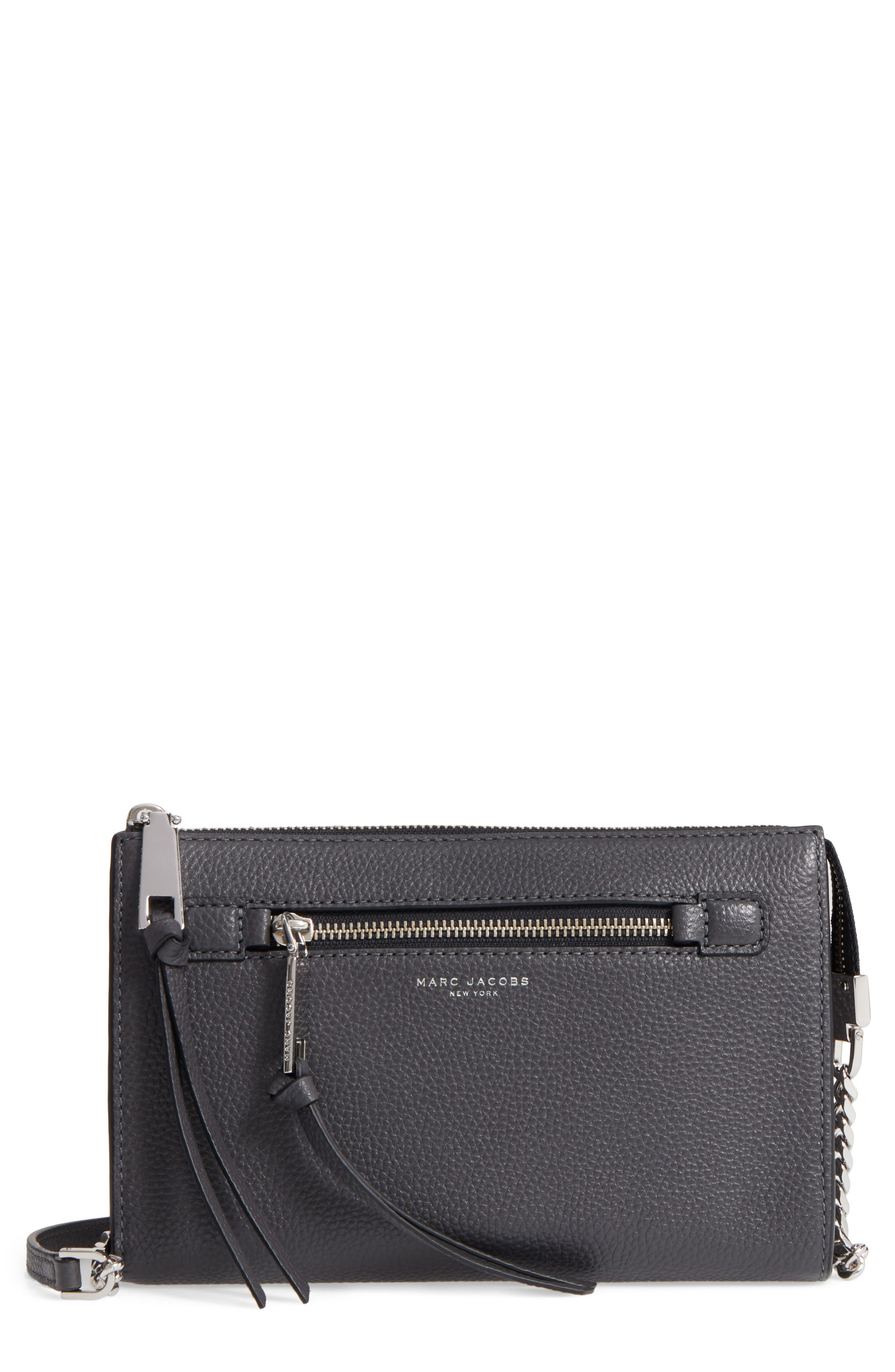 Main Image - MARC JACOBS Small Recruit Leather Crossbody Bag