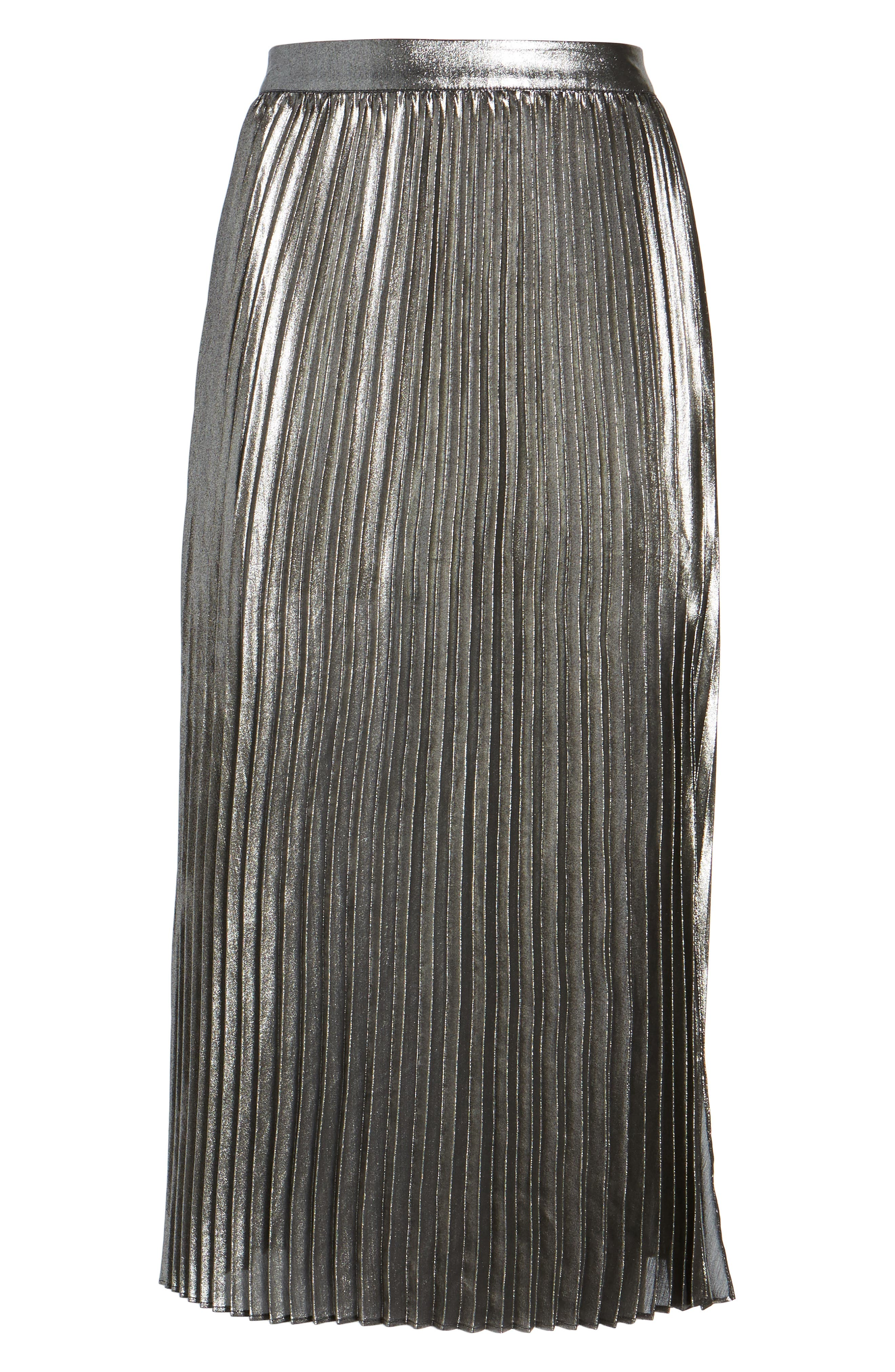 Alternate Image 6  - Trouvé Metallic Pleated Skirt