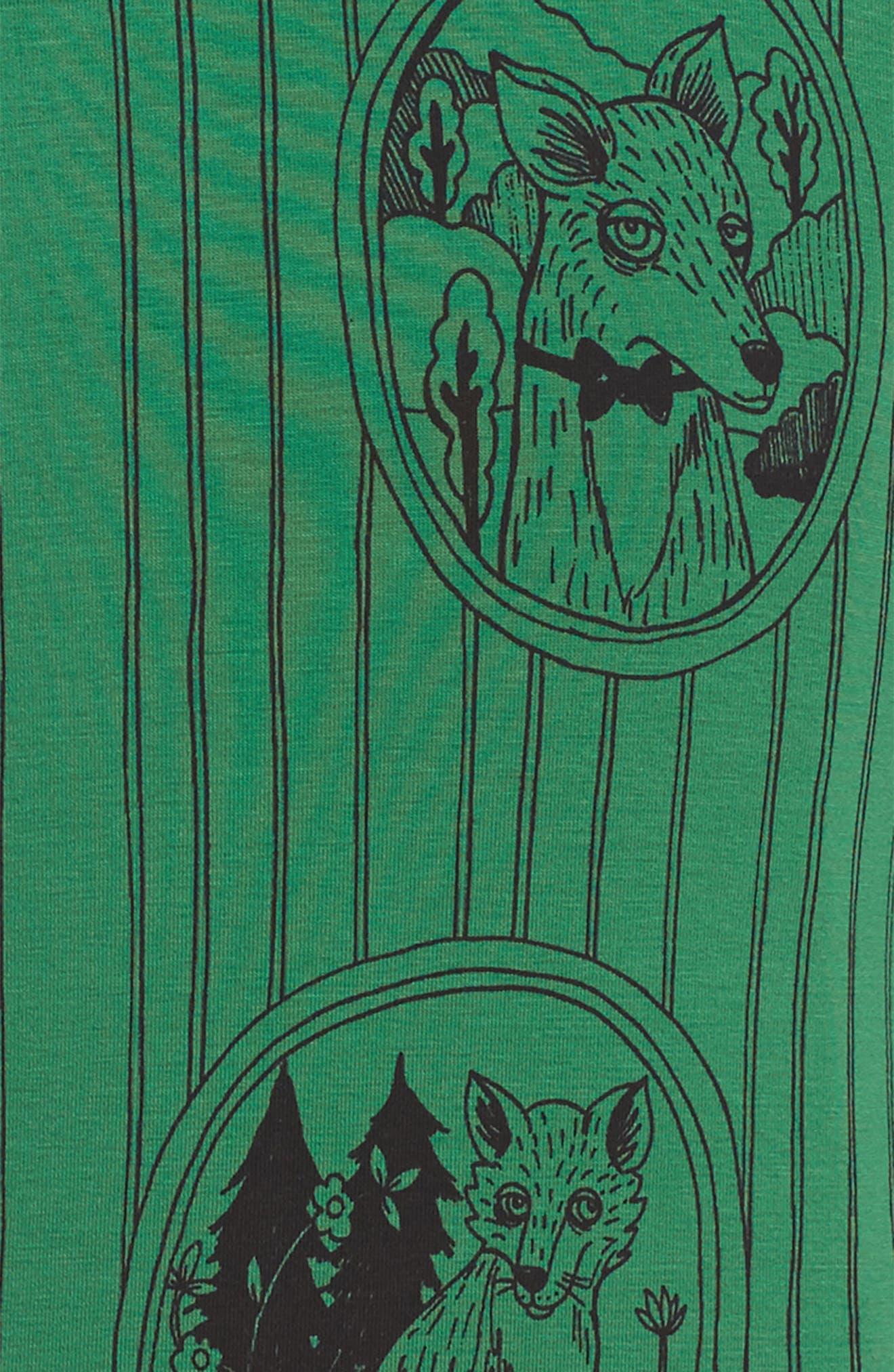 Alternate Image 3  - Mini Rodini Fox Family Drop Waist Dress (Toddler Girls & Little Girls)