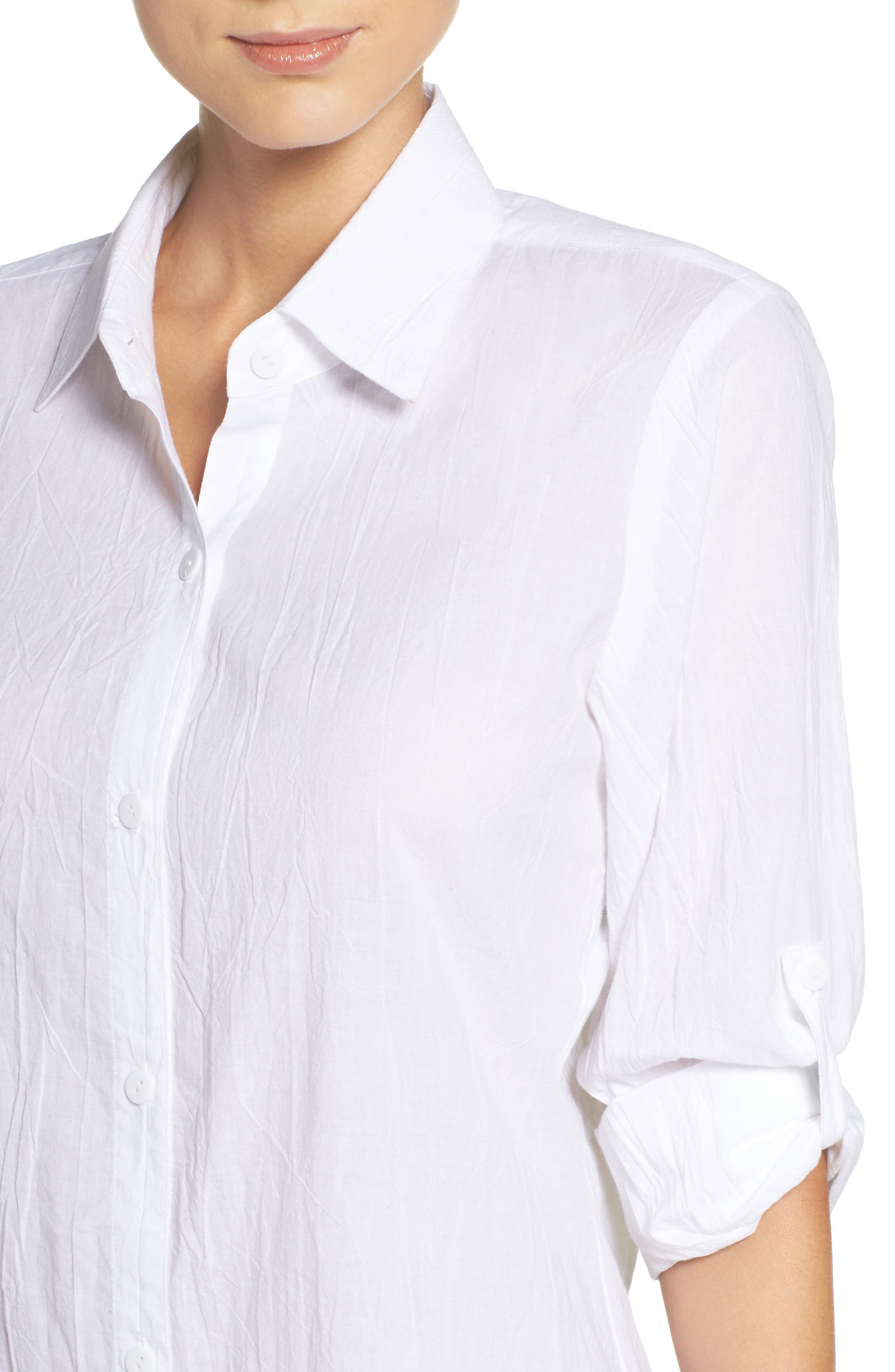 Alternate Image 4  - Tommy Bahama Boyfriend Shirt Cover-Up