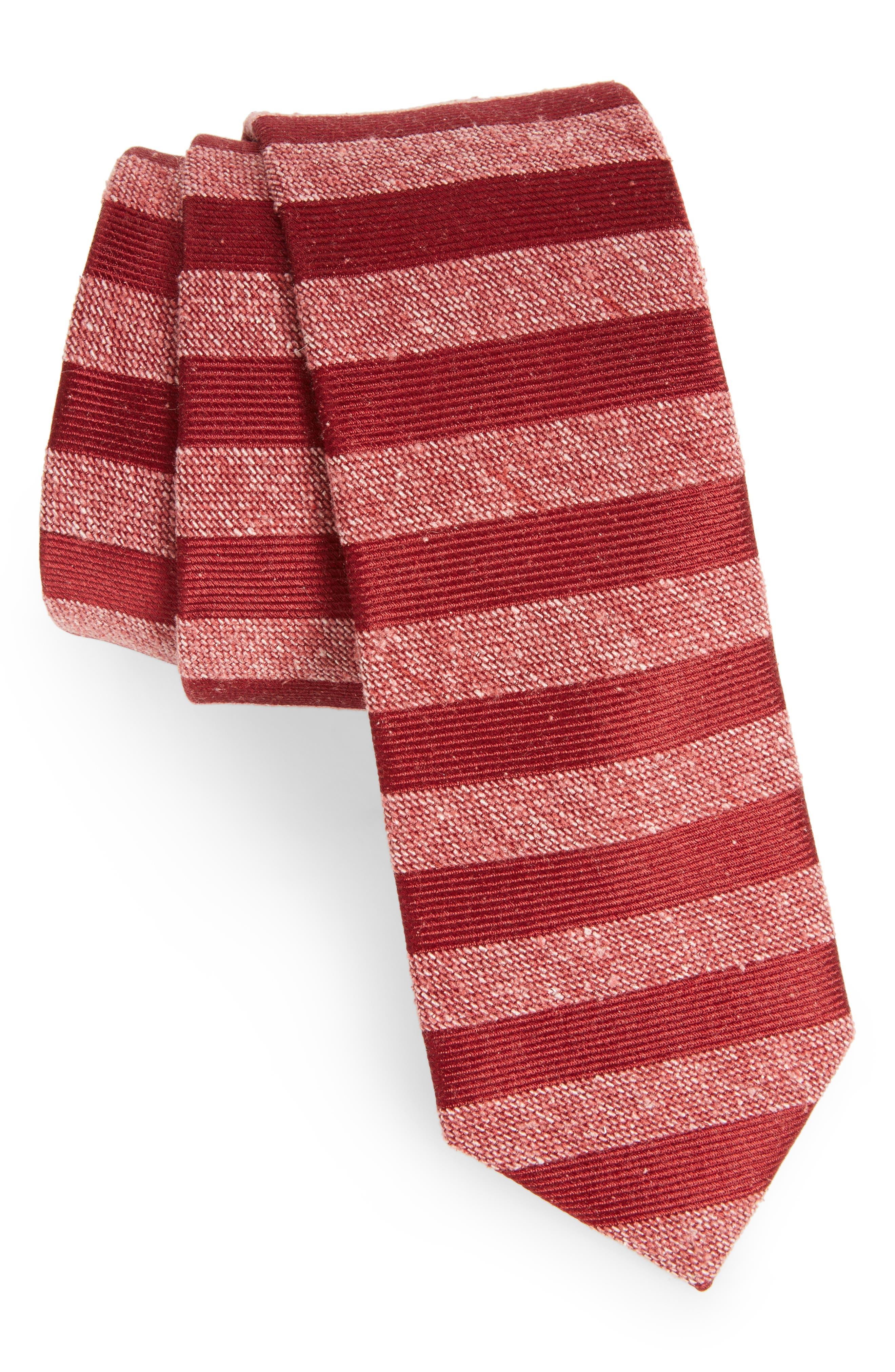 THE TIE BAR Meter Stripe Nep Silk Tie