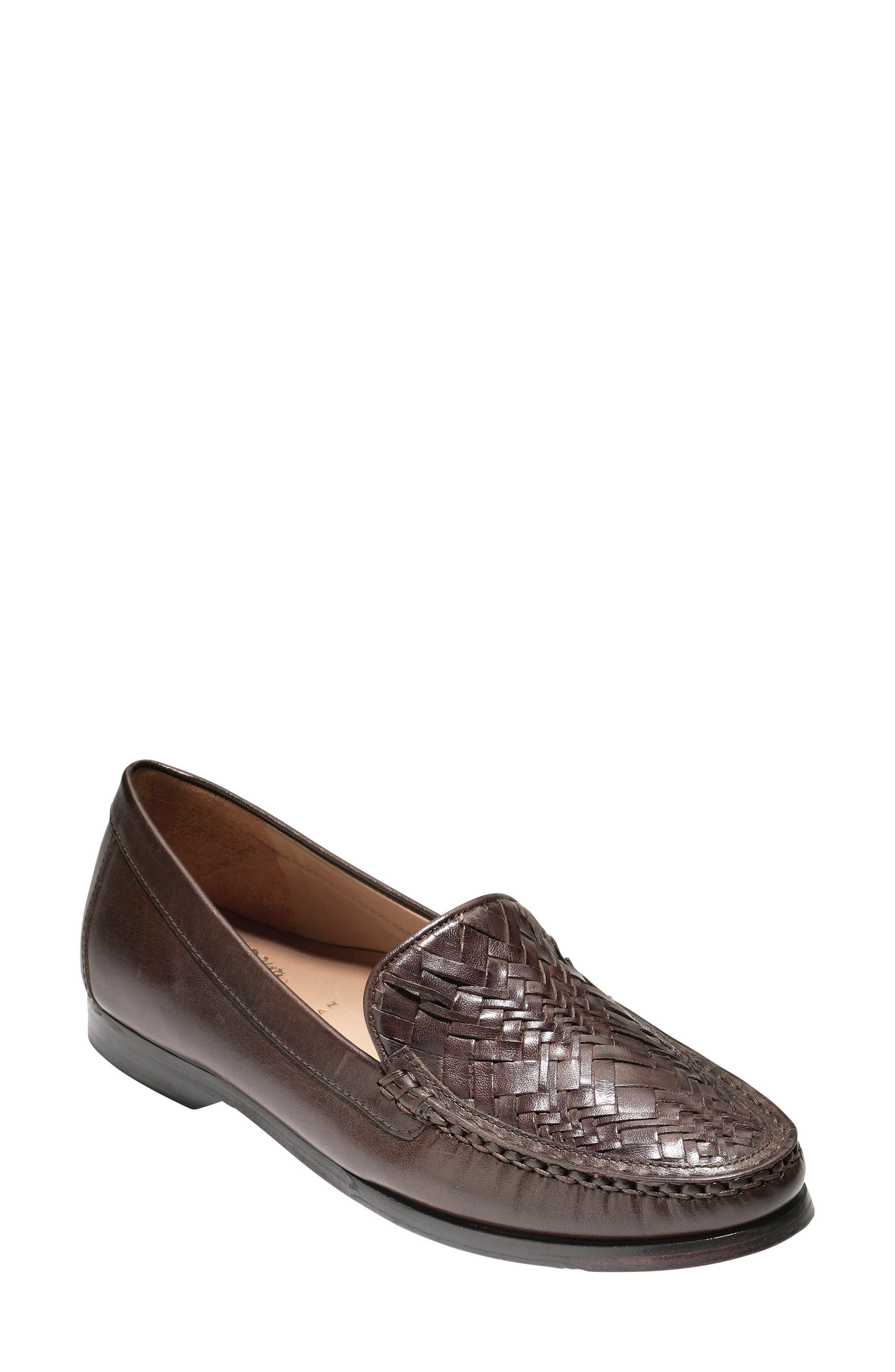 Pinch Genevieve Loafer,                             Main thumbnail 1, color,                             Chestnut Leather