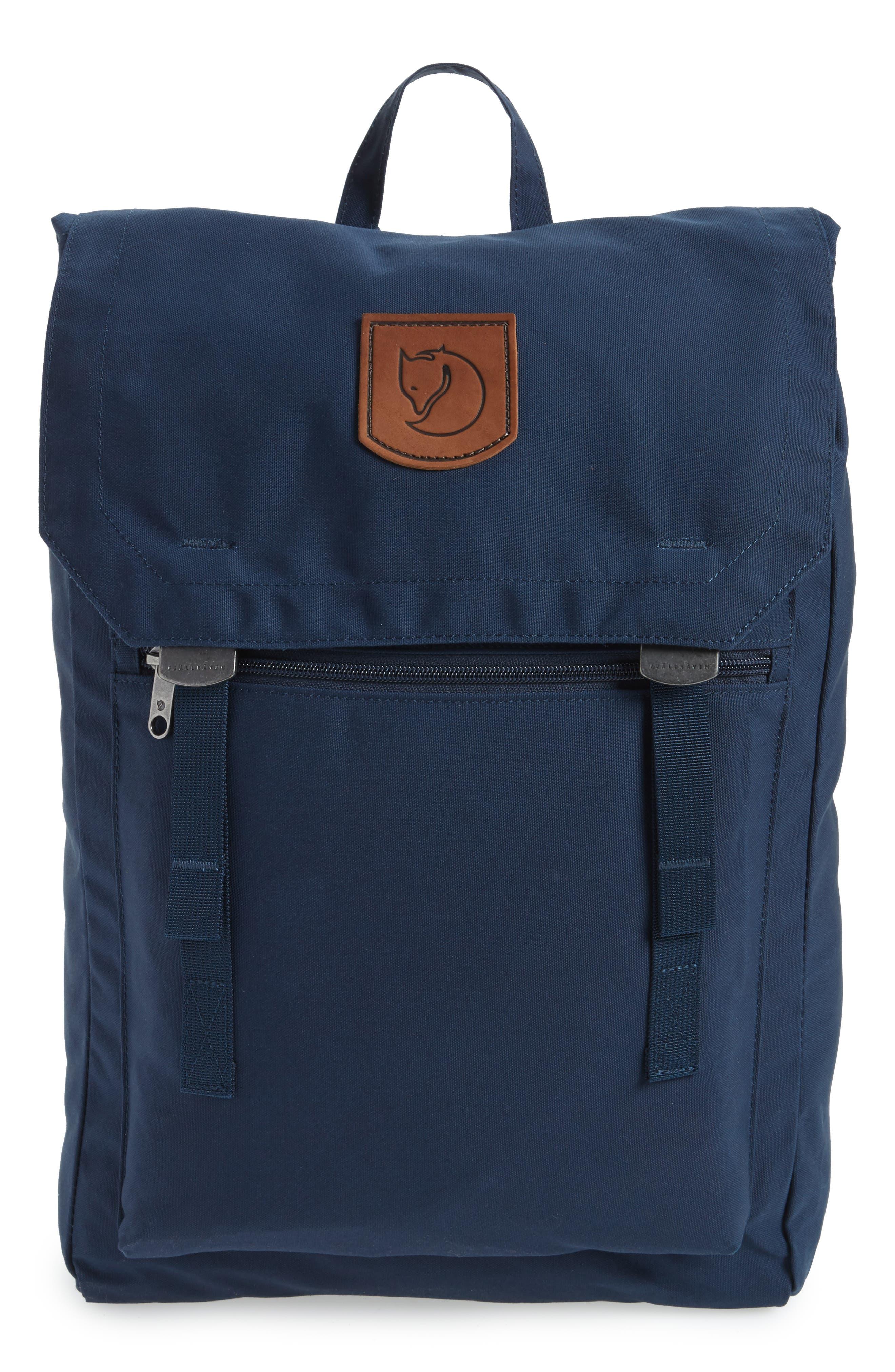 Foldsack No.1 Water Resistant Backpack,                             Main thumbnail 1, color,                             Navy