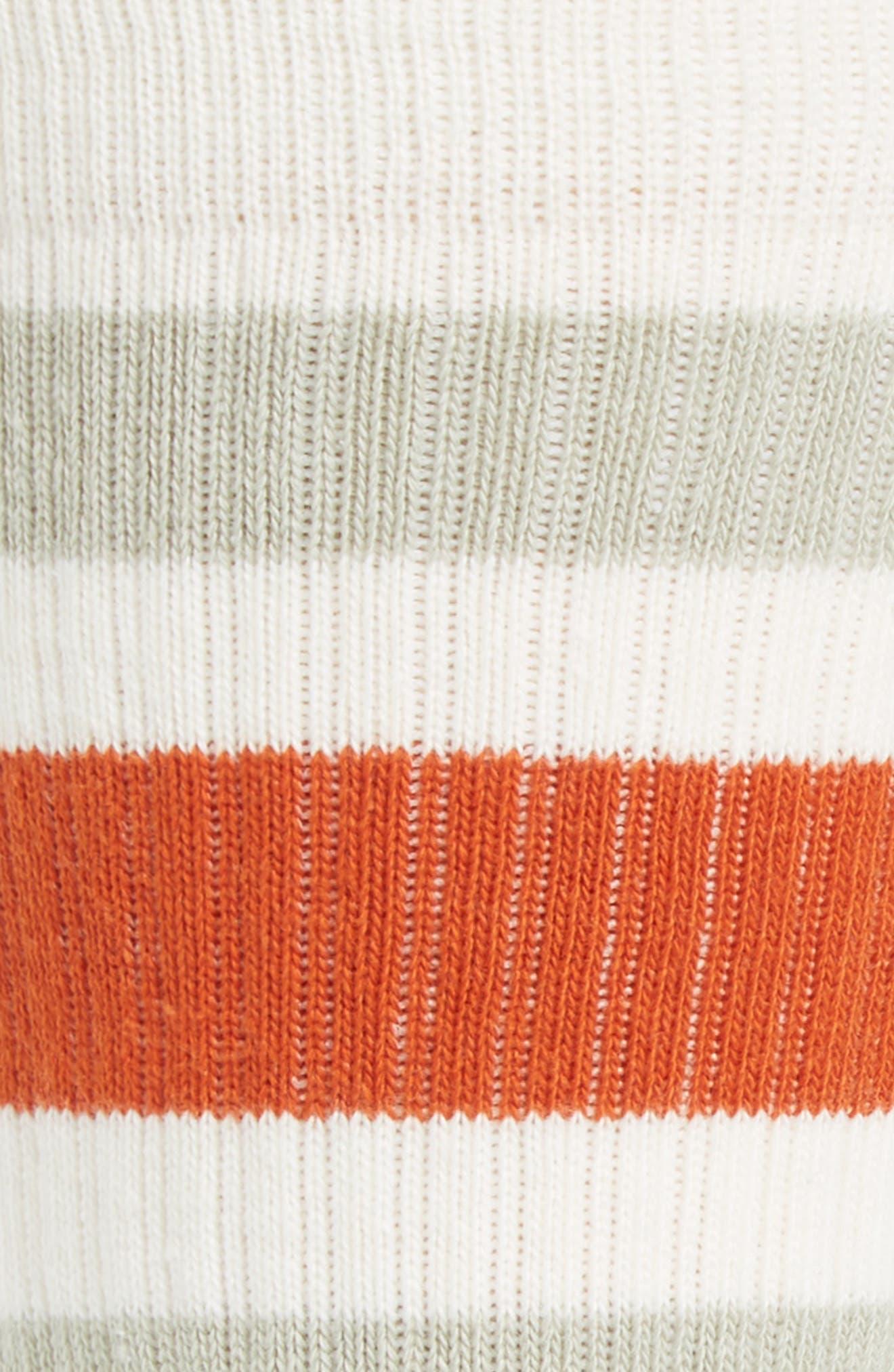 Stripe Crew Socks,                             Alternate thumbnail 2, color,                             Natural