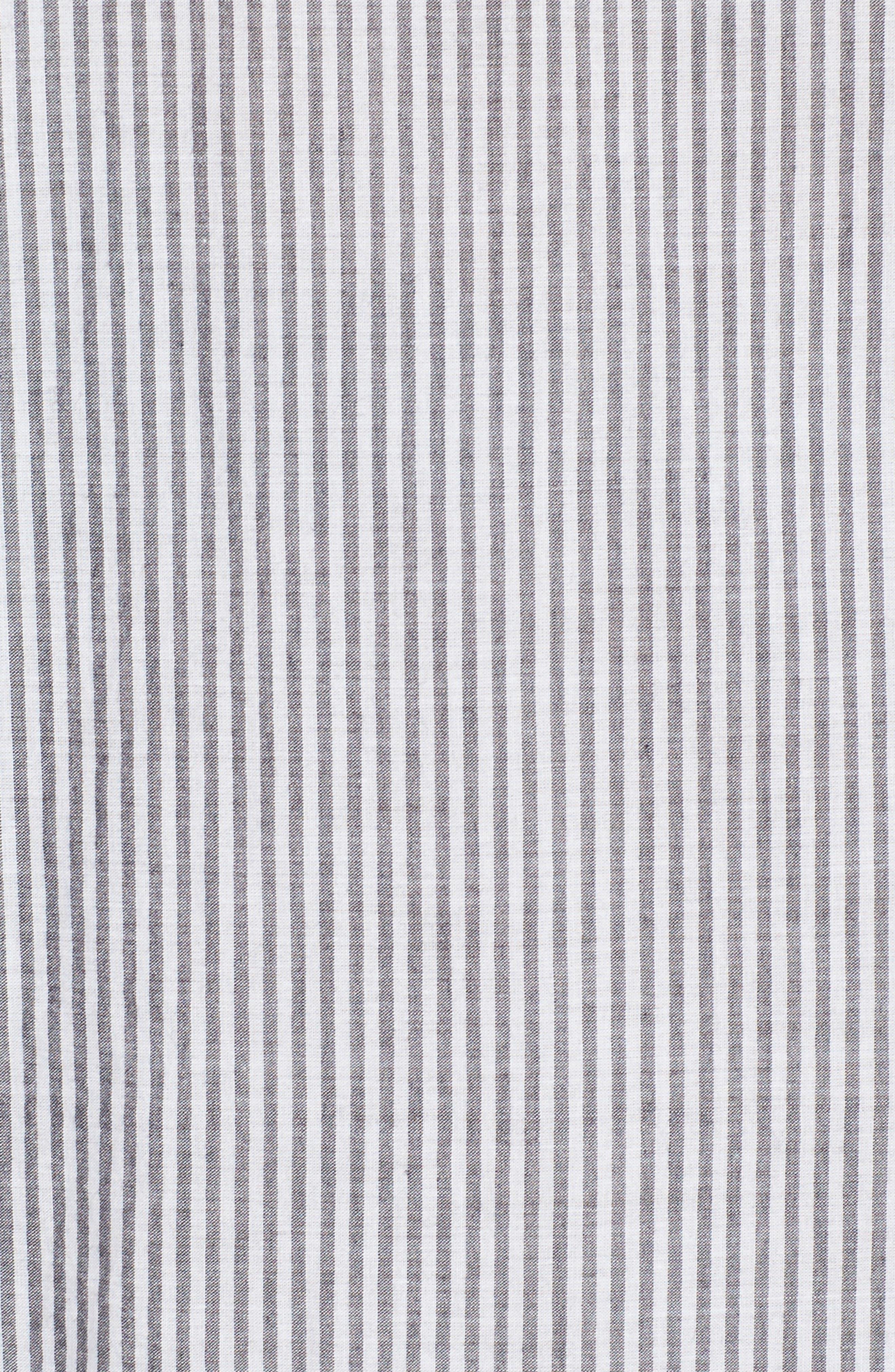 Alternate Image 5  - Velvet Embroidered Stripe Shirt