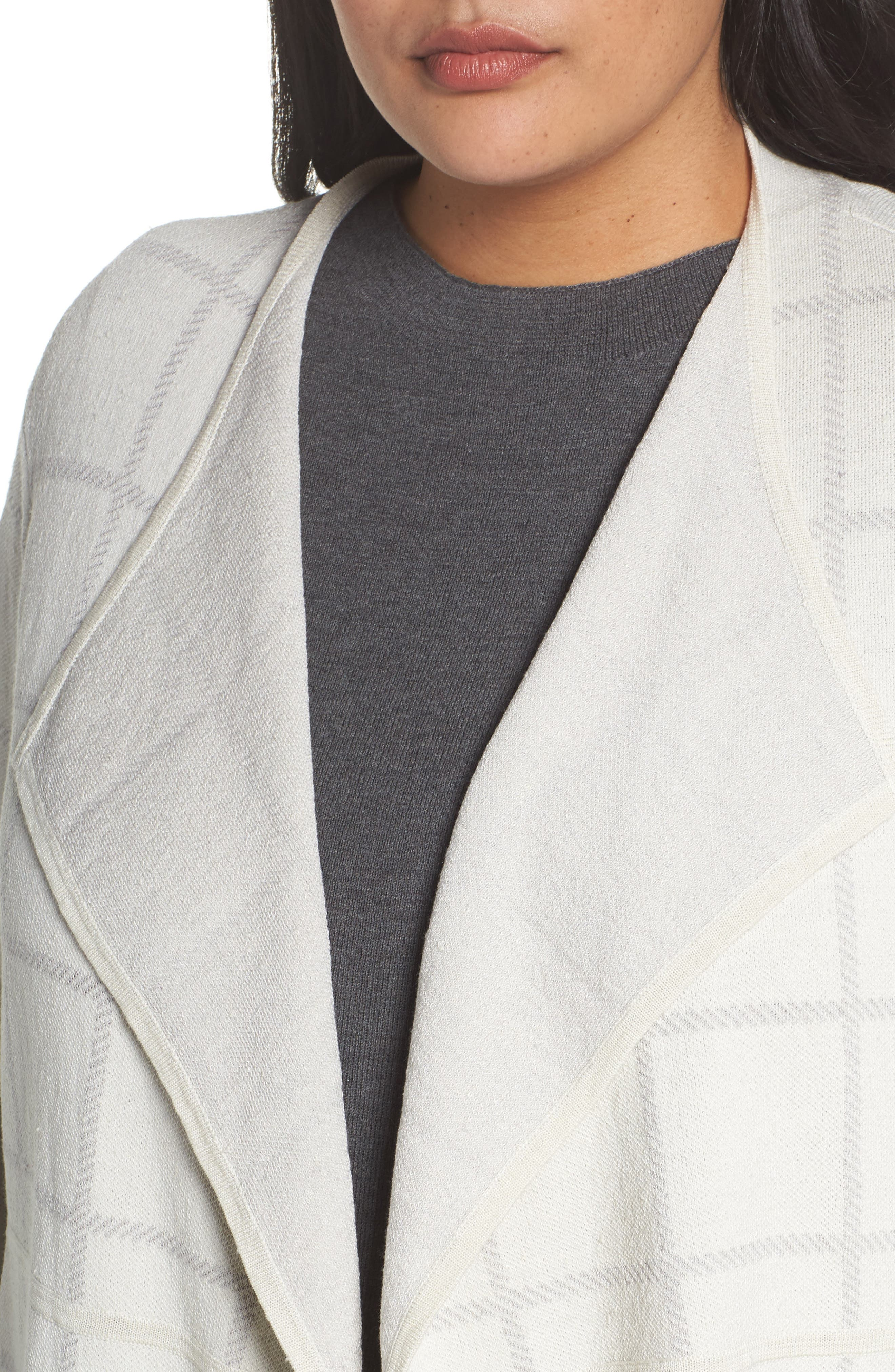 Alternate Image 4  - Eileen Fisher Angle Front Cardigan (Plus Size)