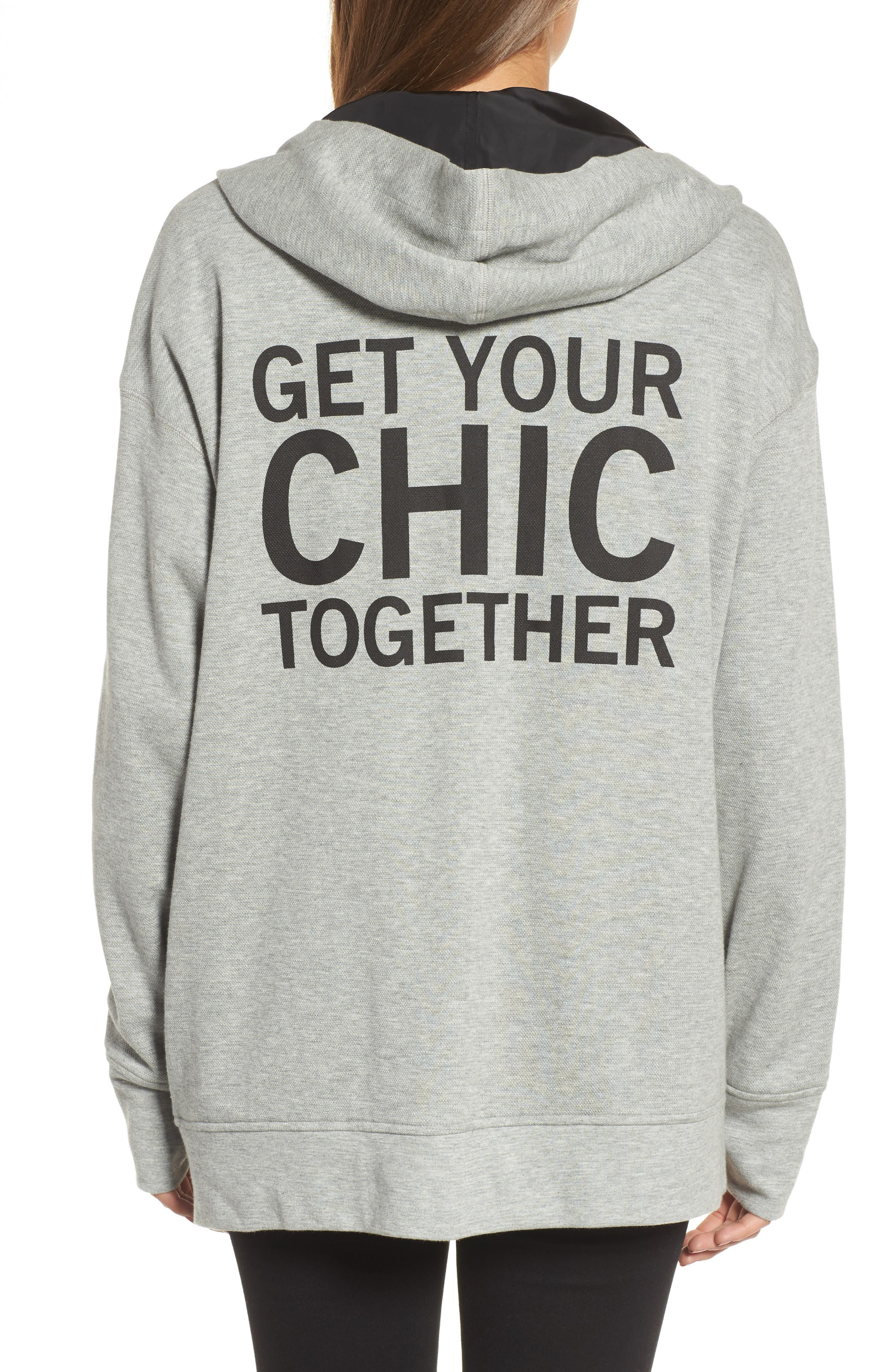 Reversible Graphic Hoodie,                             Alternate thumbnail 2, color,                             Heather Grey