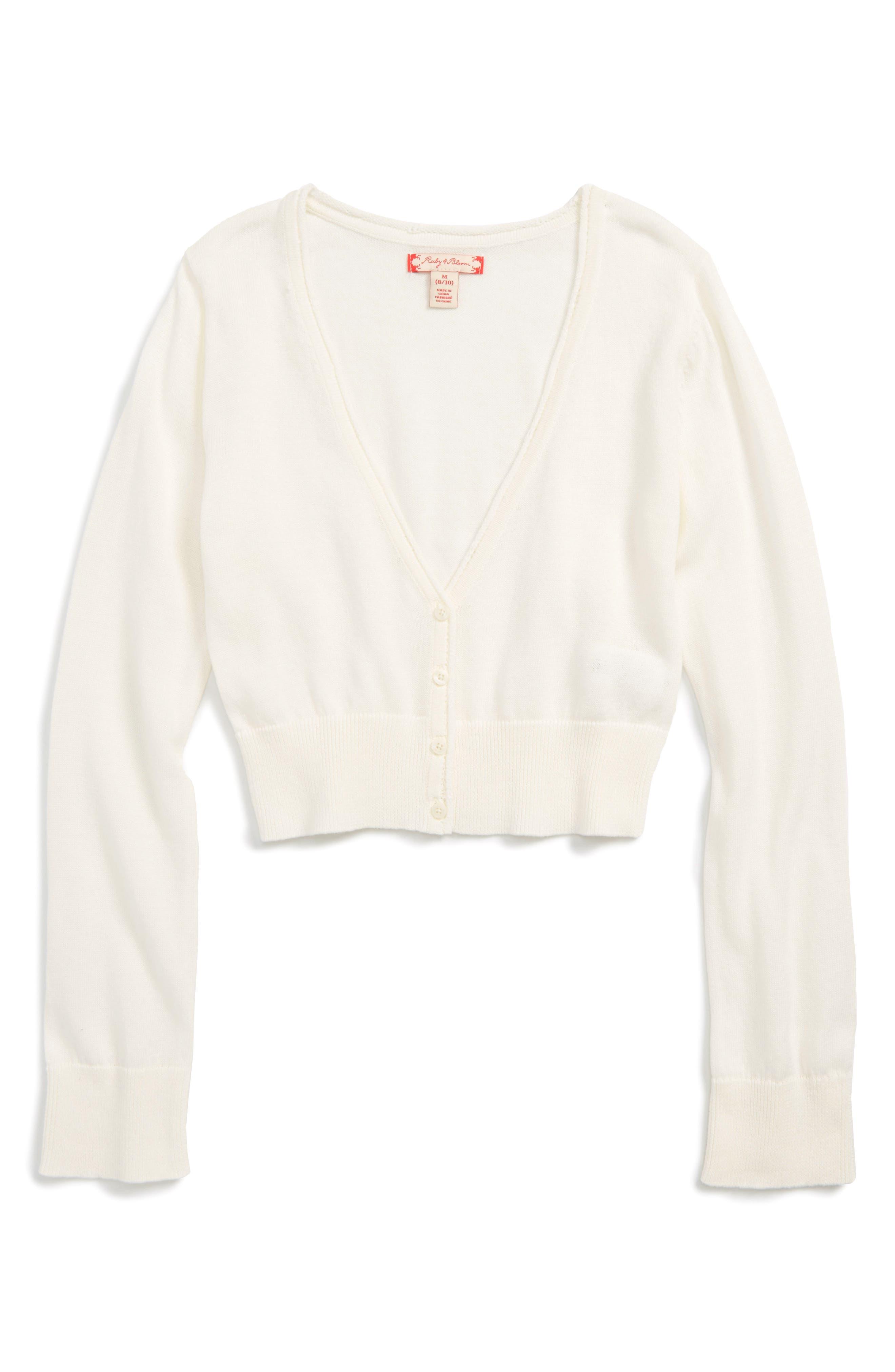 RUBY & BLOOM Dahlia Sparkle Bolero Sweater