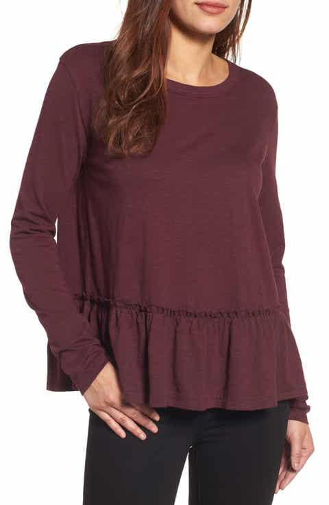 burgundy shirts for women | Nordstrom