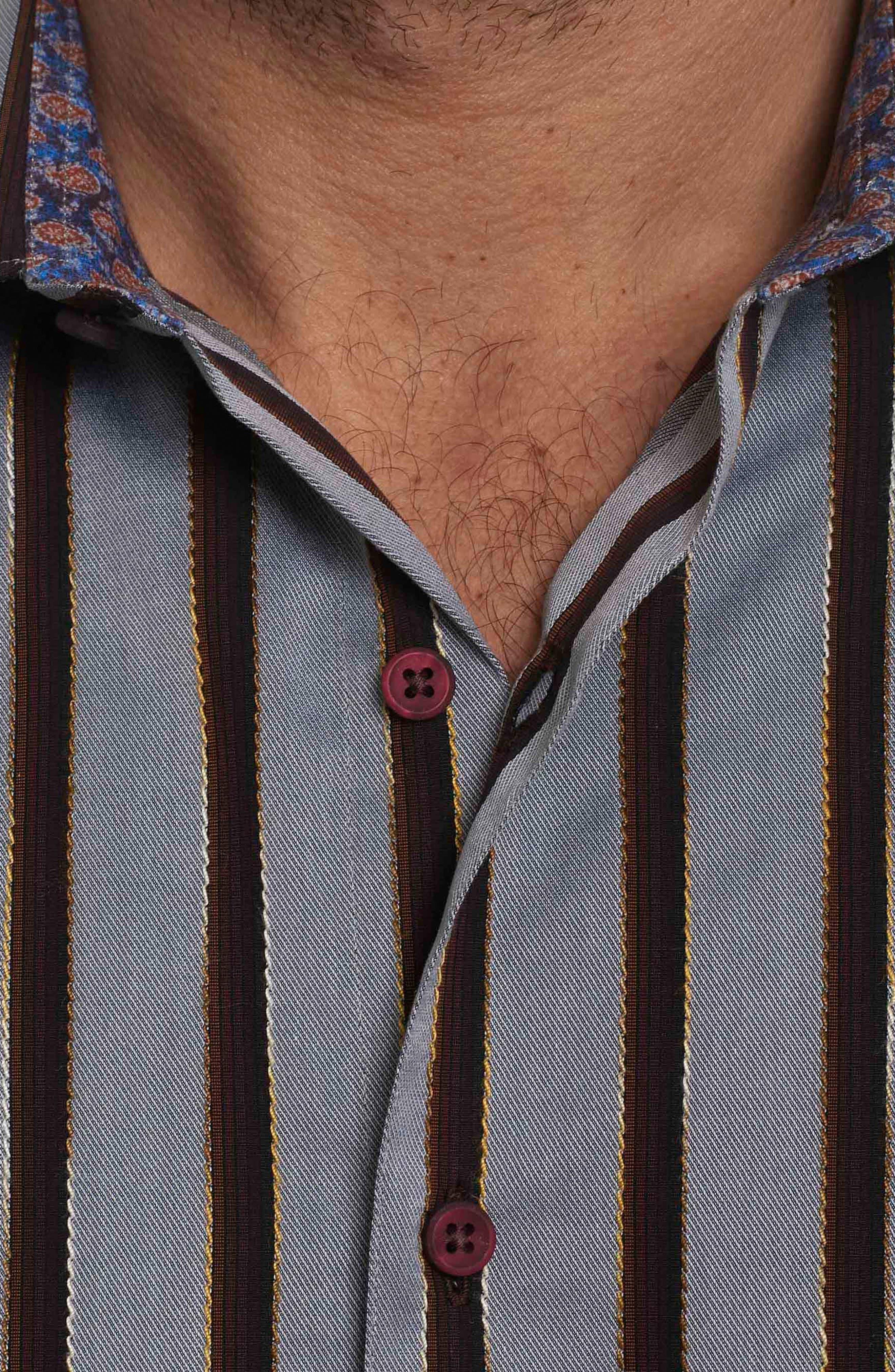 Alternate Image 4  - Robert Graham Baltica Classic Fit Stripe Sport Shirt