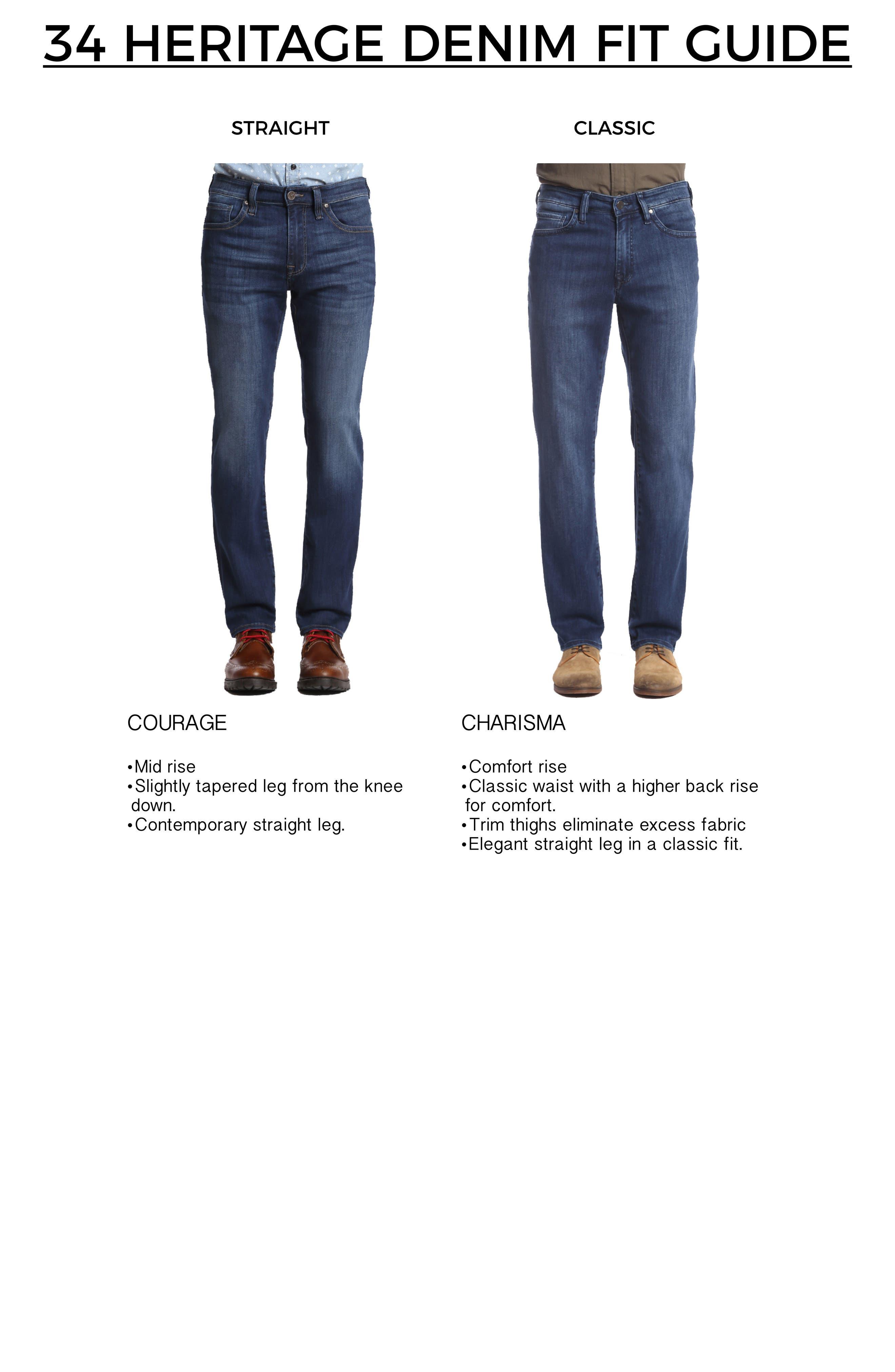 Alternate Image 7  - 34 Heritage Courage Straight Leg Jeans (Dark Rome)