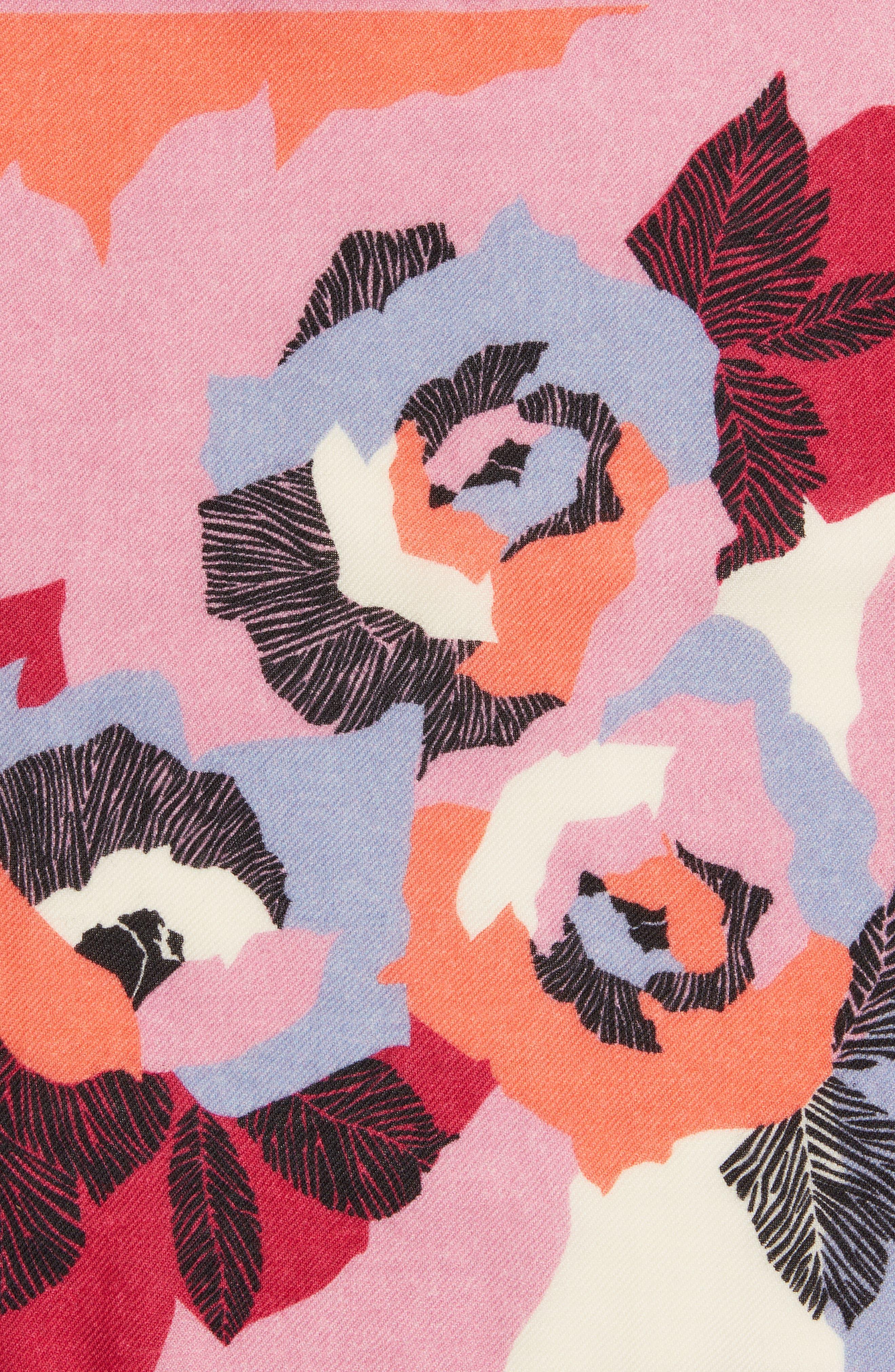 Alternate Image 3  - Bonobos Floral Wool Pocket Square