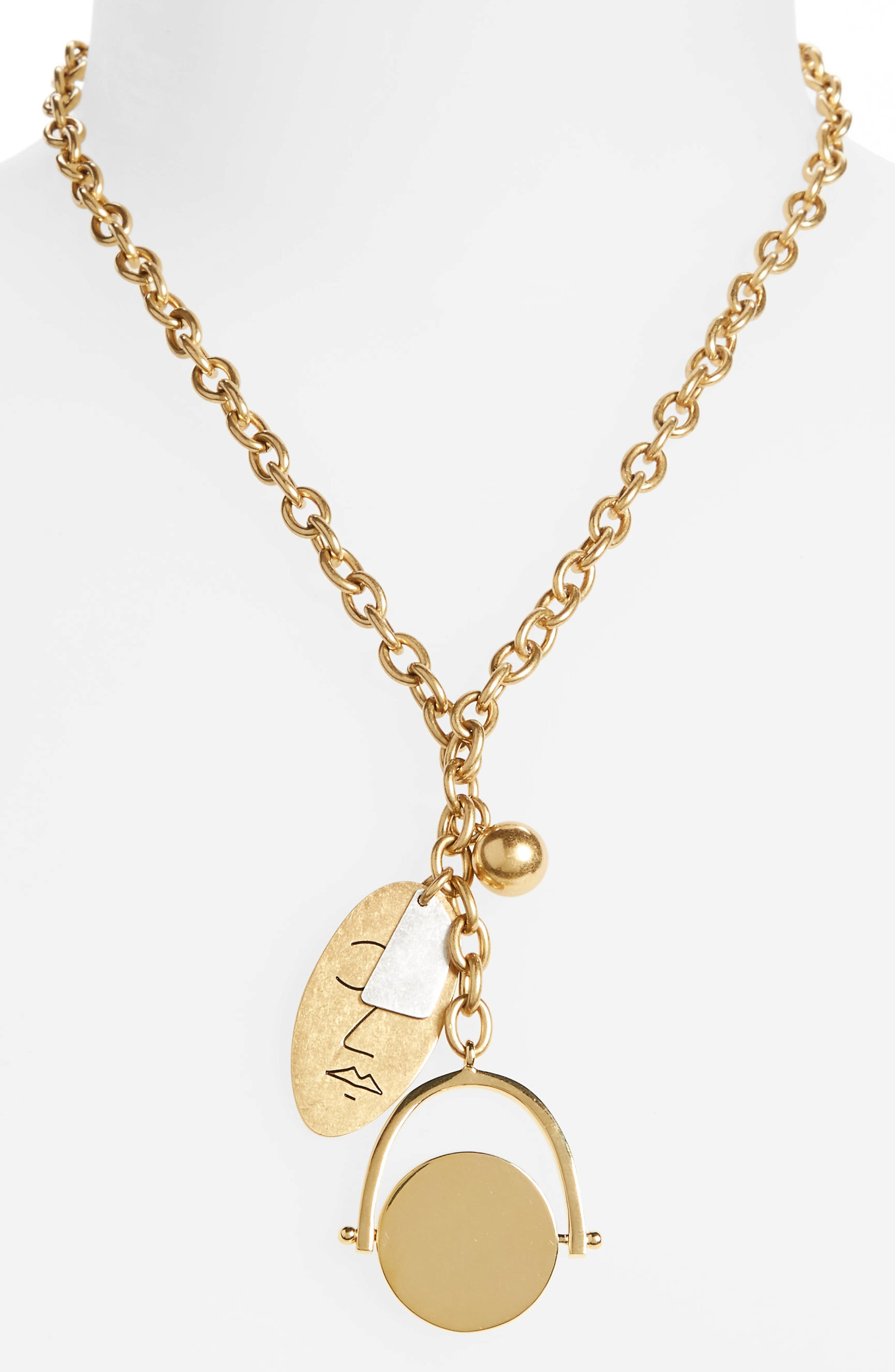 Alternate Image 2  - Madewell Face It Charm Lariat Necklace