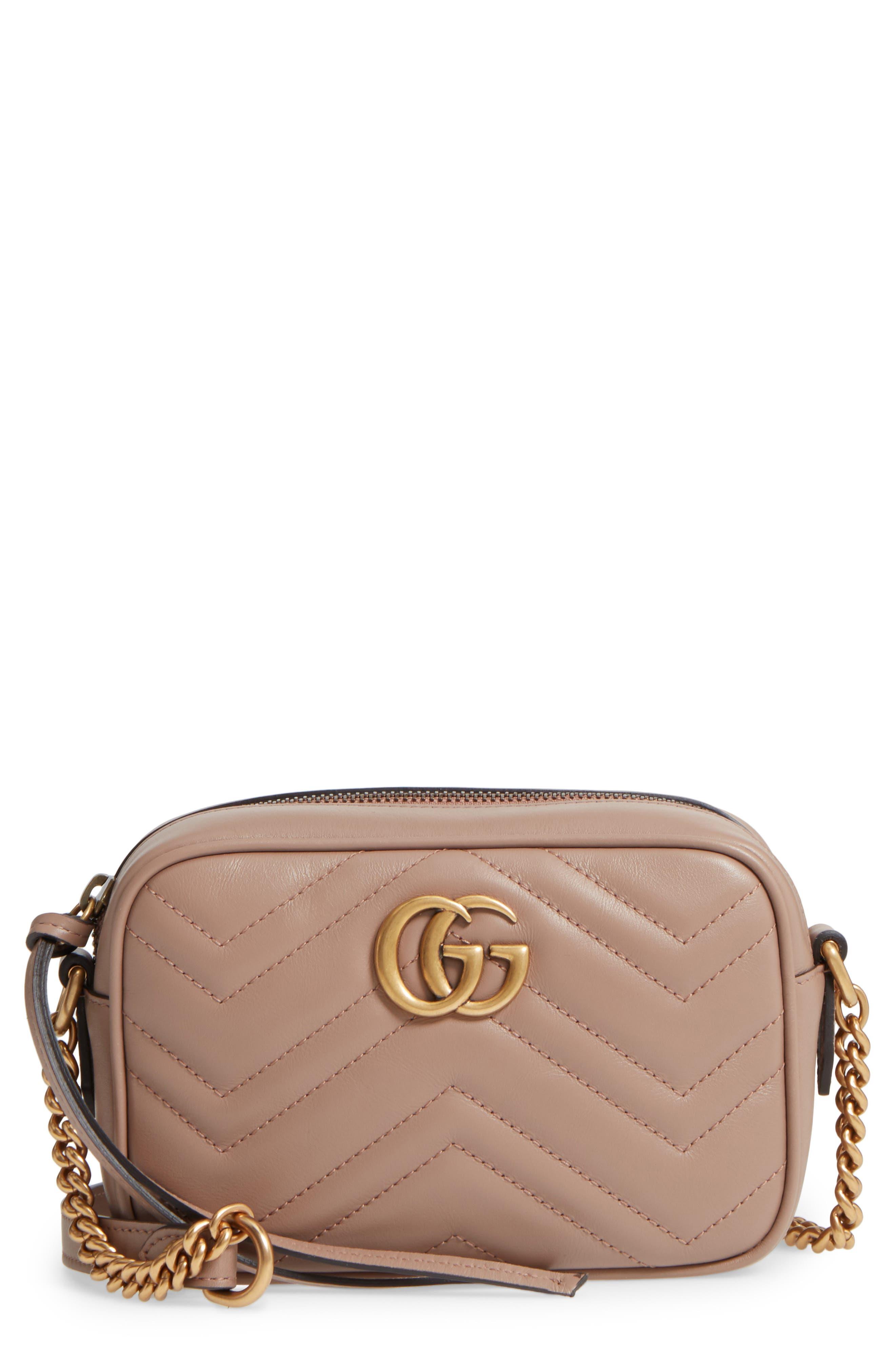 Gucci GG Marmont 2.0 Matelassé Leather Camera Bag
