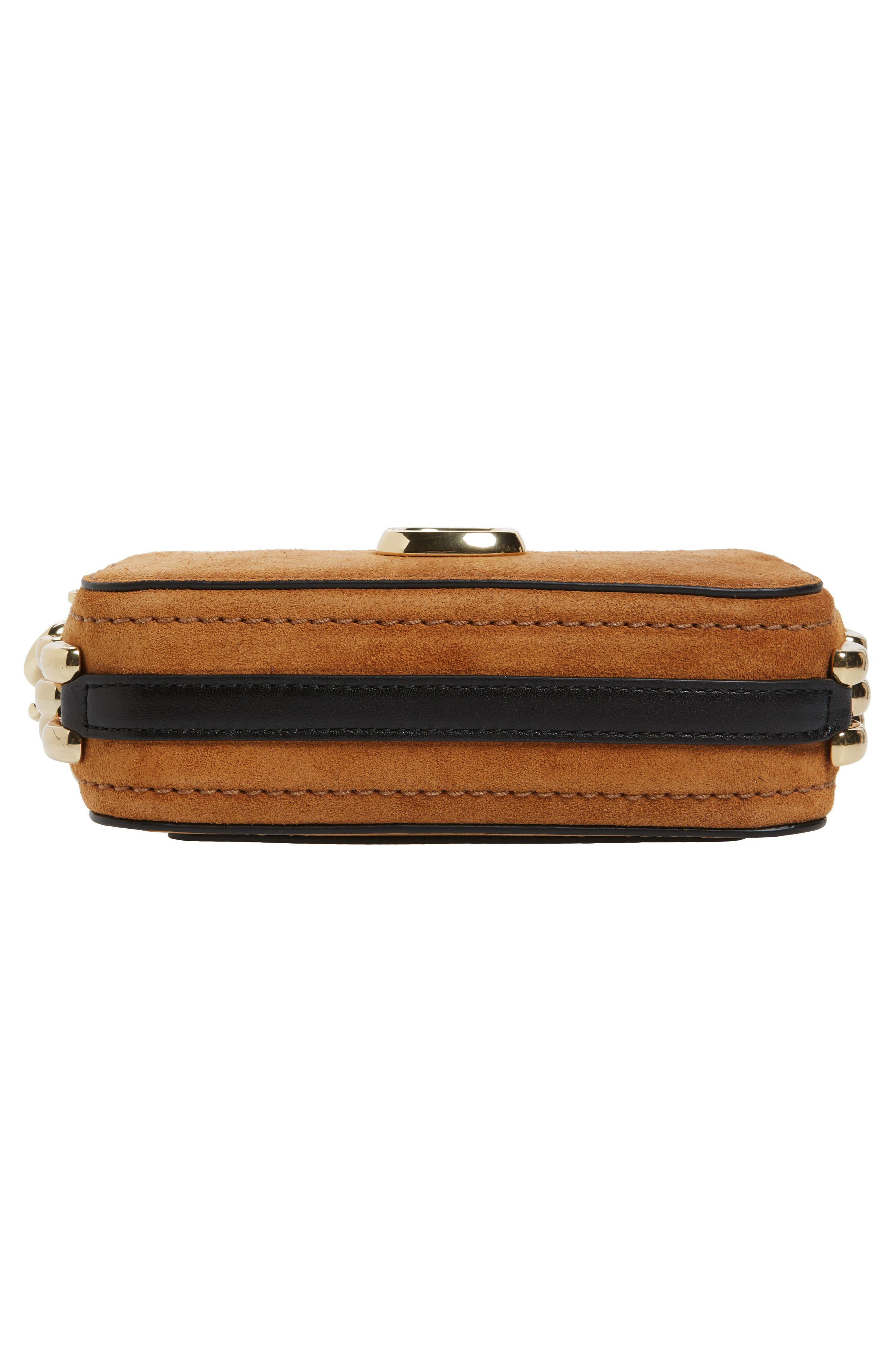 Small Chain Snapshot Suede Camera Bag,                             Alternate thumbnail 5, color,                             Mustard
