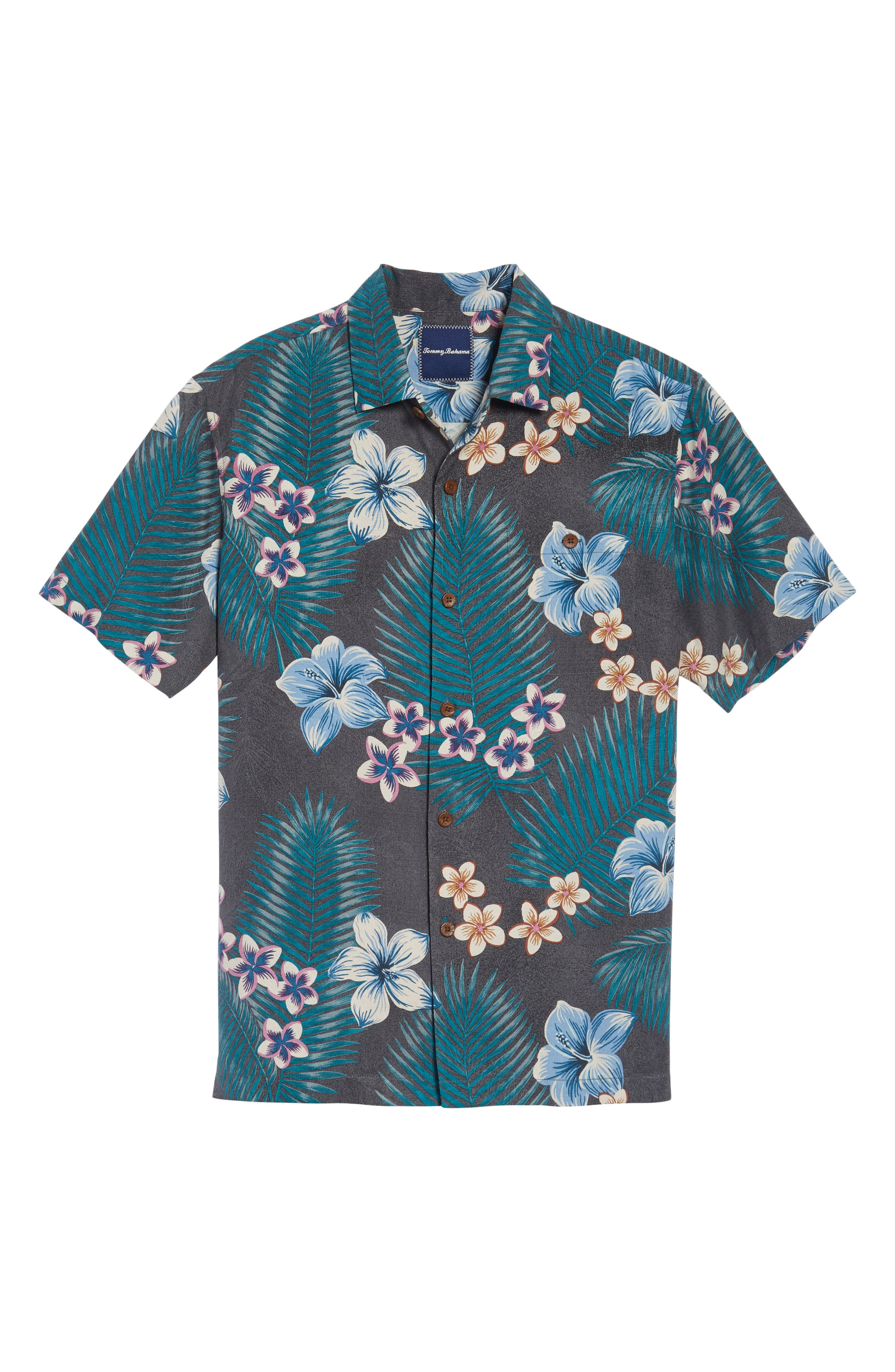 Alternate Image 6  - Tommy Bahama Marjorelle Blooms Standard Fit Camp Shirt