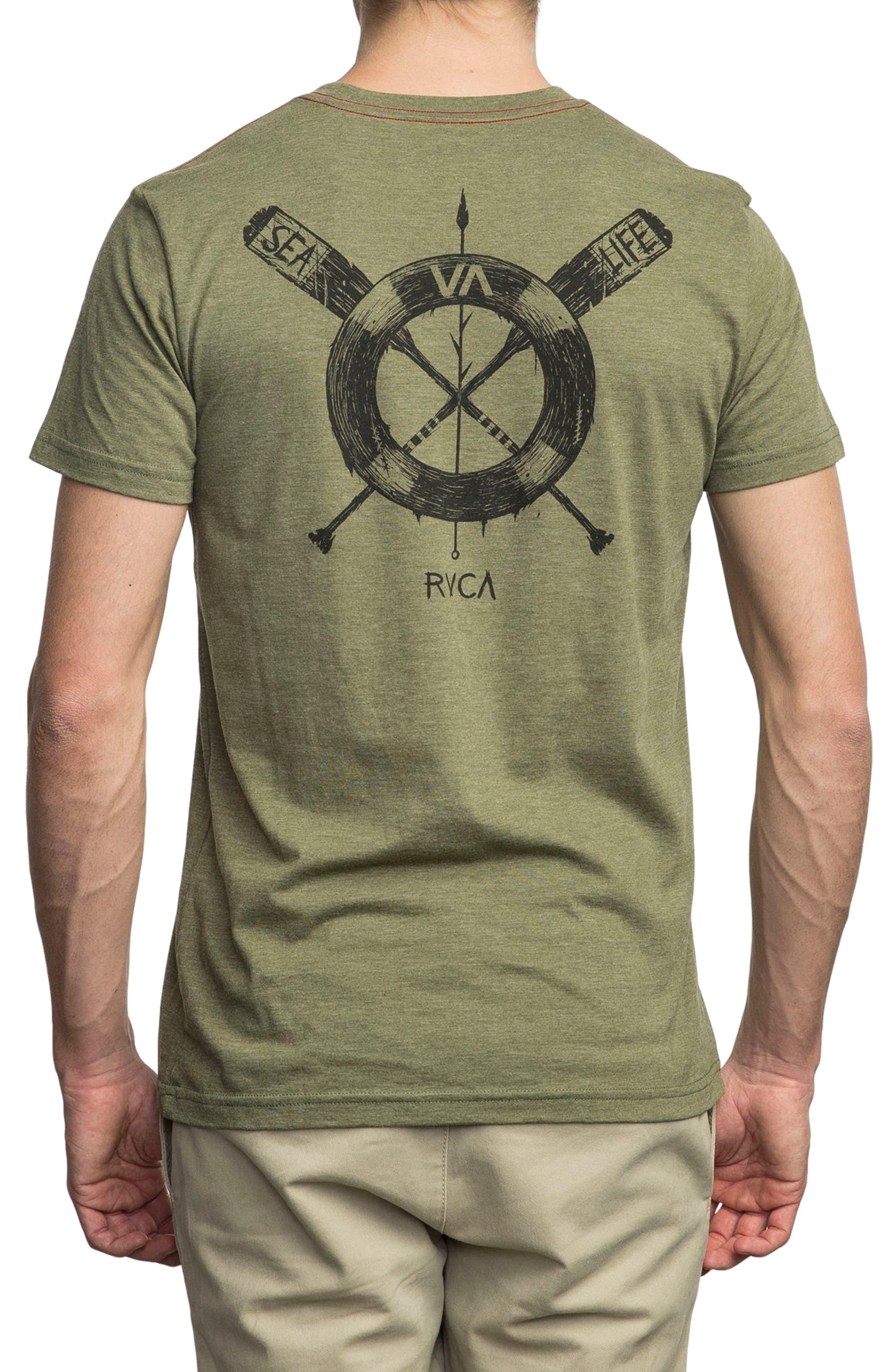 Sea Life Graphic T-Shirt,                             Alternate thumbnail 2, color,                             Burnt Olive