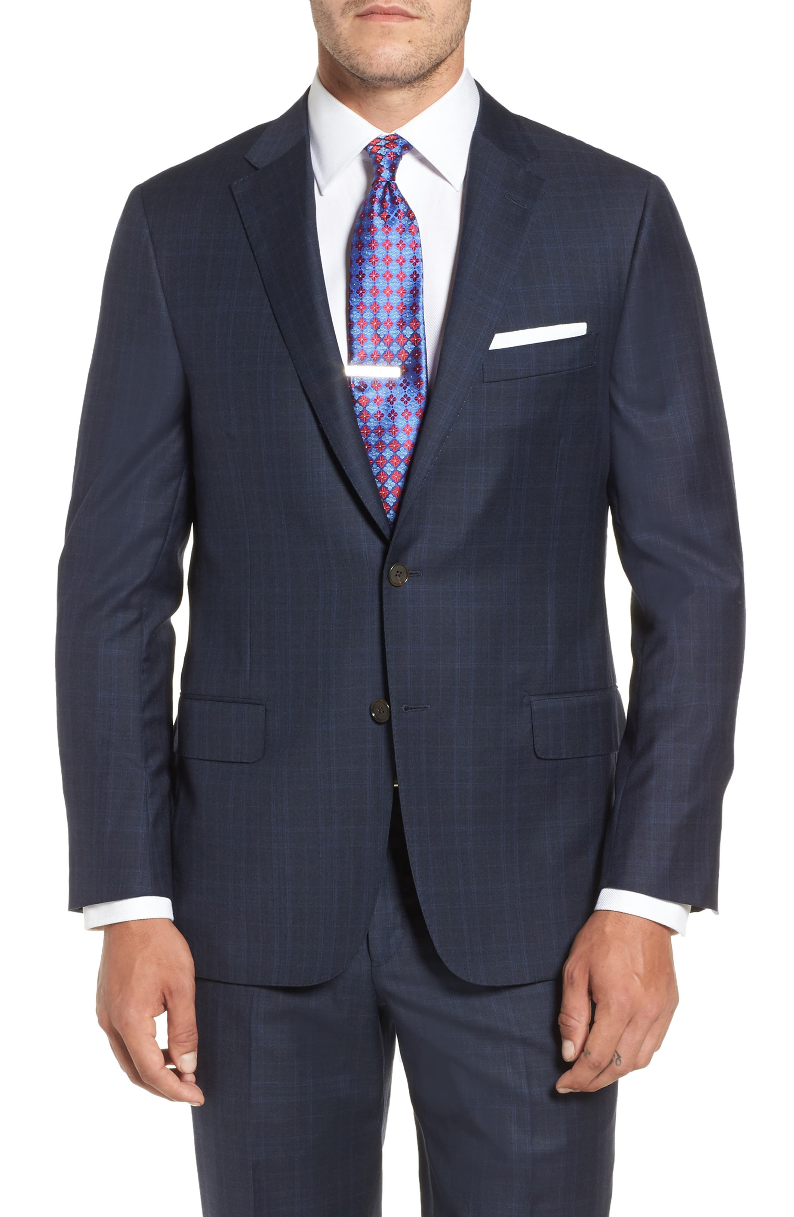 Alternate Image 5  - Hickey Freeman Classic B Fit Plaid Wool Suit