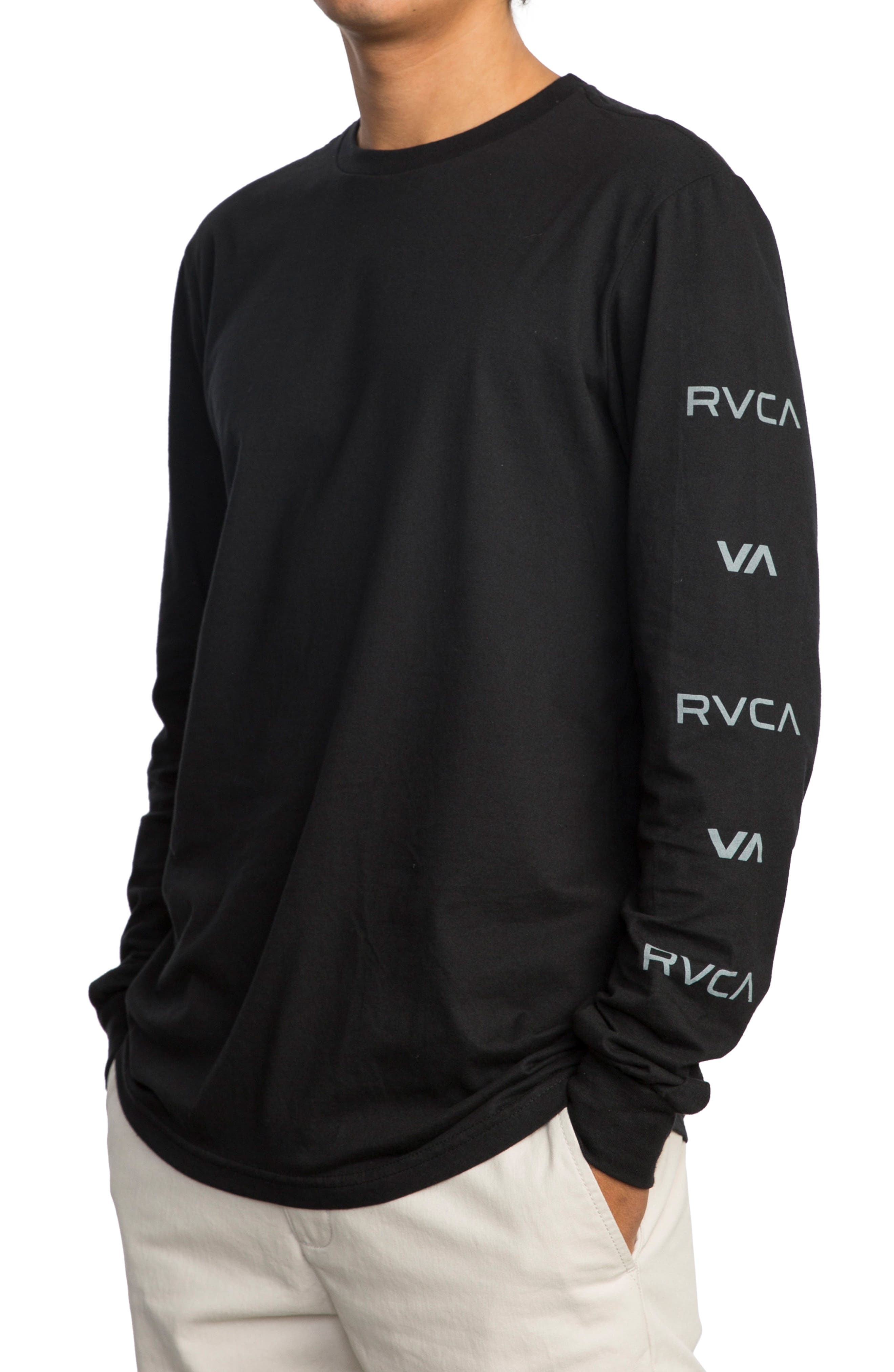 Alternate Image 3  - RVCA Brand Stack Graphic T-Shirt