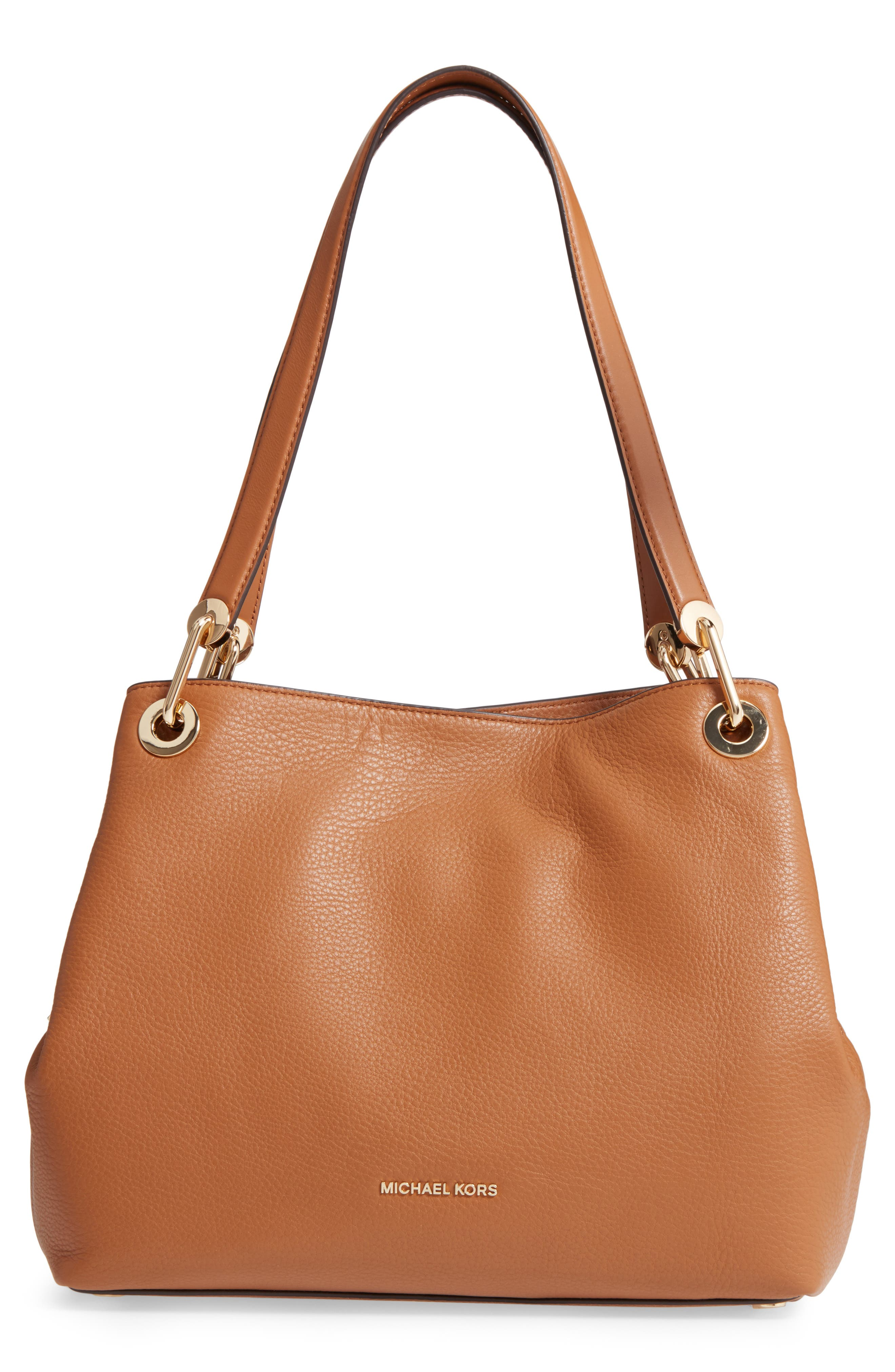 Large Raven Leather Tote,                         Main,                         color, Acorn