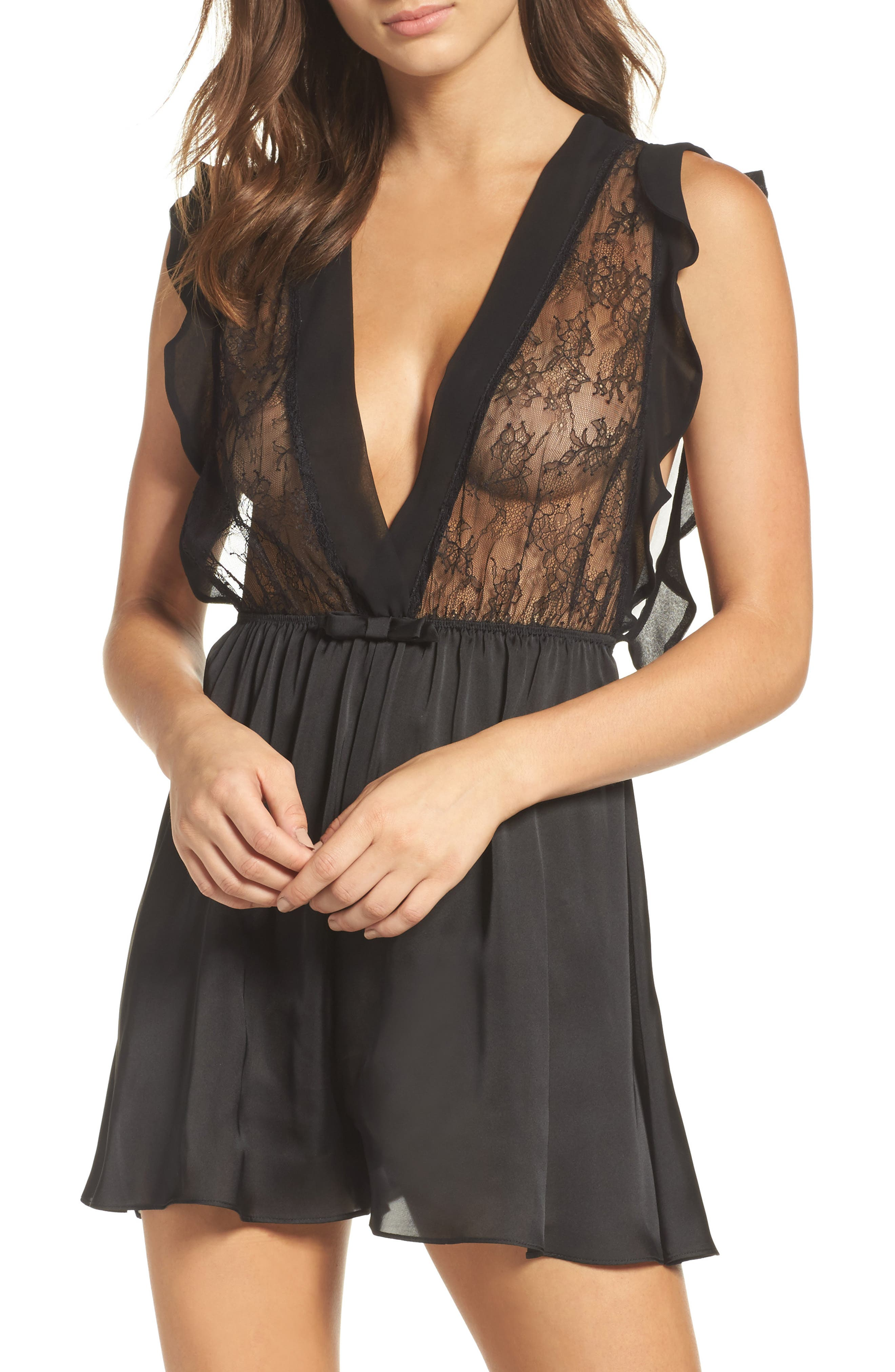 Black Bow Louisa Lace Romper