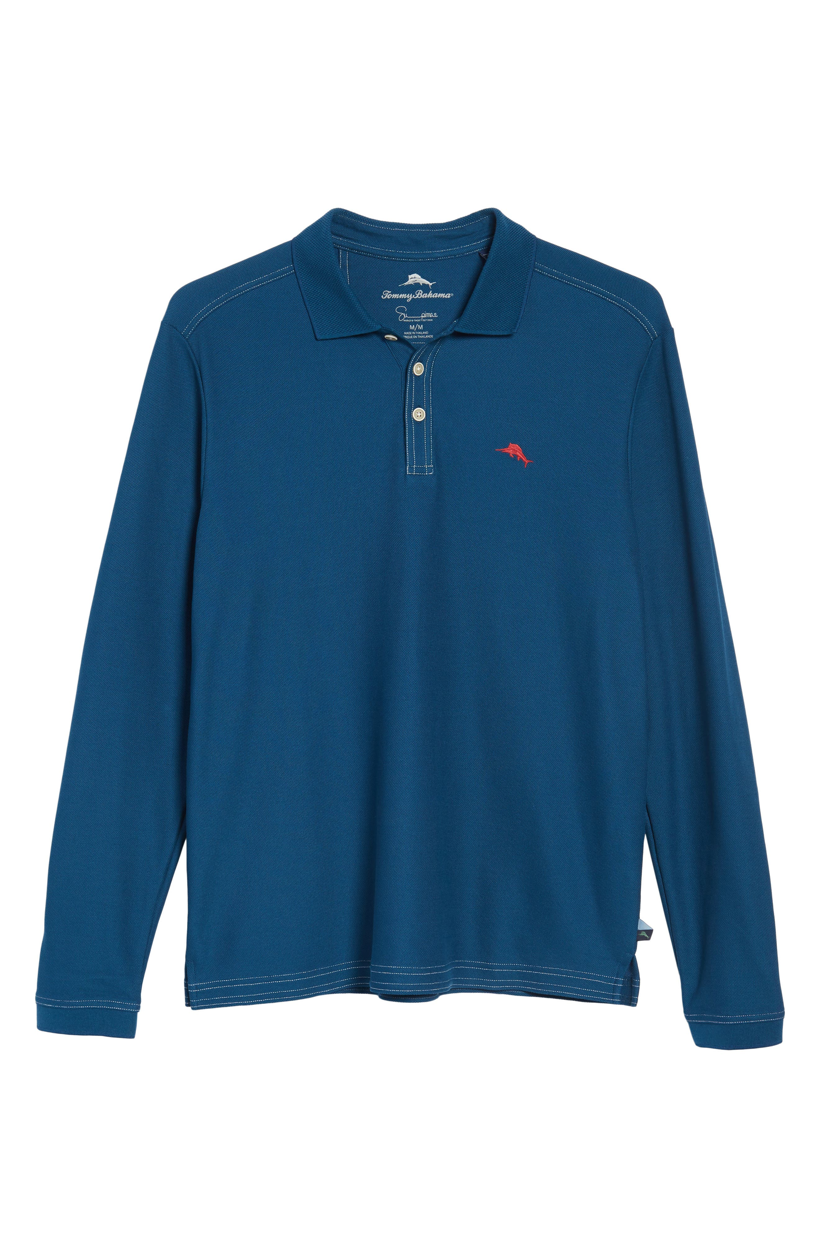Emfielder Long Sleeve Polo,                             Alternate thumbnail 6, color,                             Slate Teal