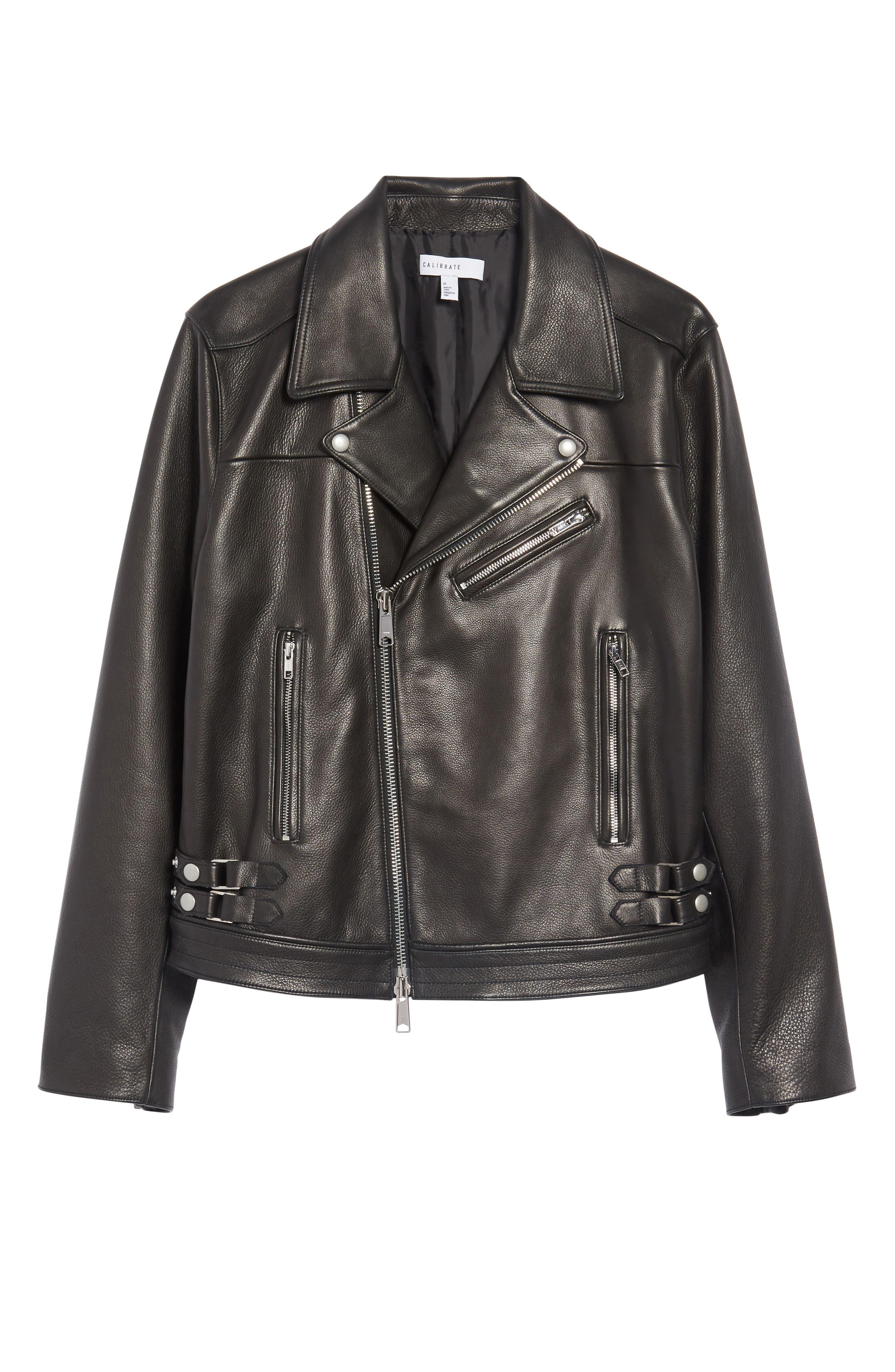 Alternate Image 6  - Calibrate Leather Moto Jacket