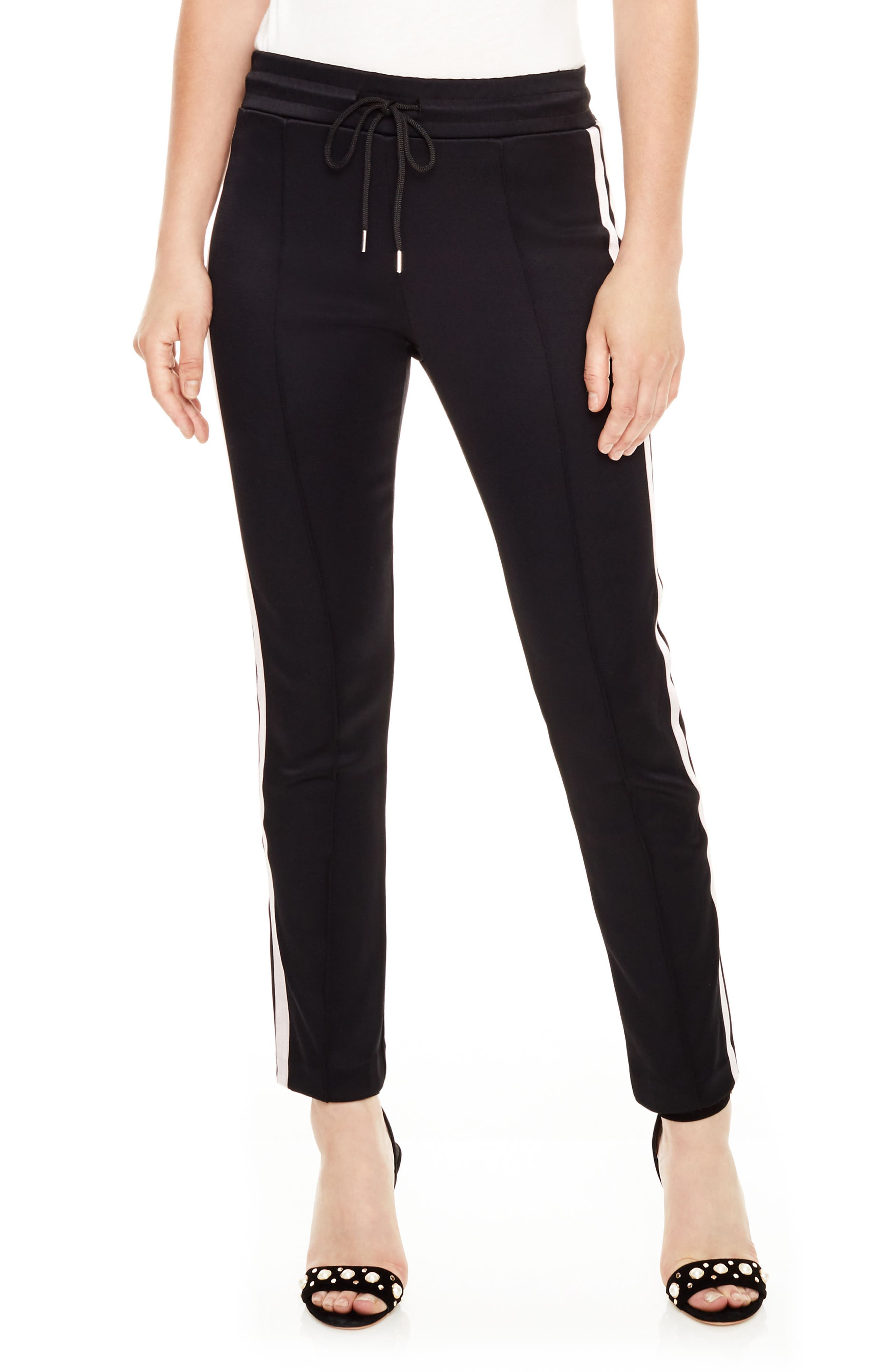 Side Stripe Track Pants,                             Main thumbnail 1, color,                             Black