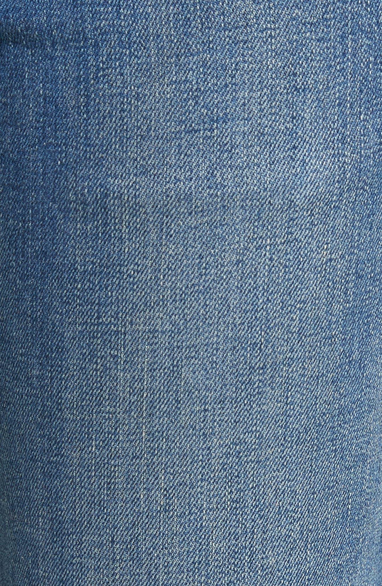 Alternate Image 5  - Tu es mon TRÉSOR Grosgrain Bow Embellished Jeans
