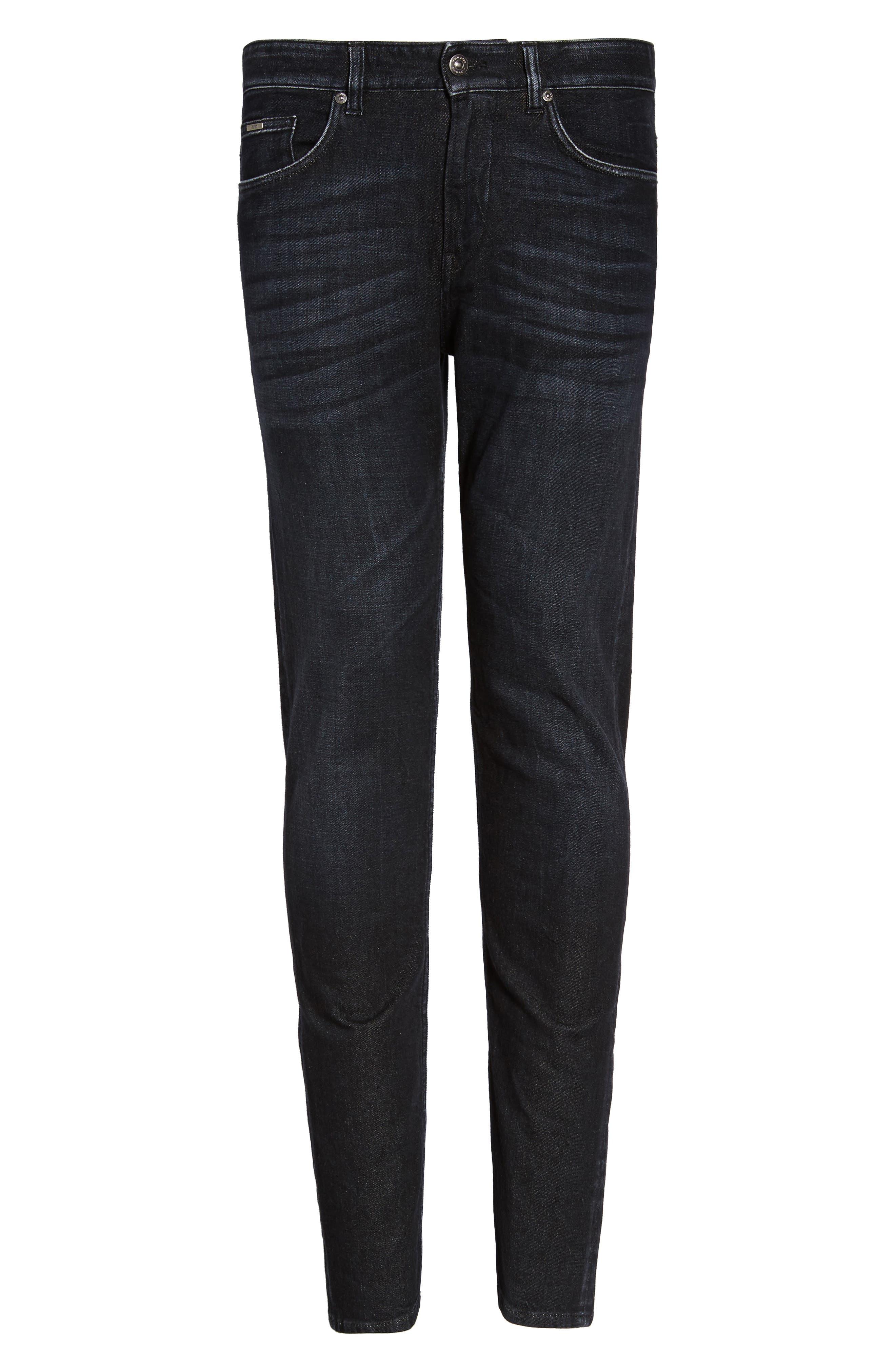 Straight Leg Jeans,                             Alternate thumbnail 6, color,                             Dark Grey