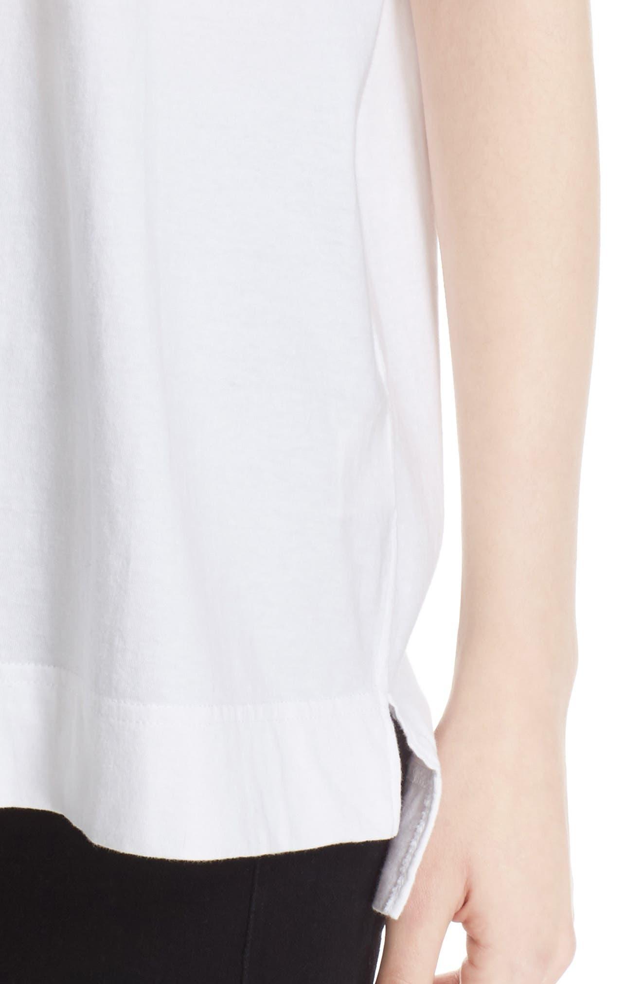 Fragile Sequin Back Logo Tee,                             Alternate thumbnail 4, color,                             White