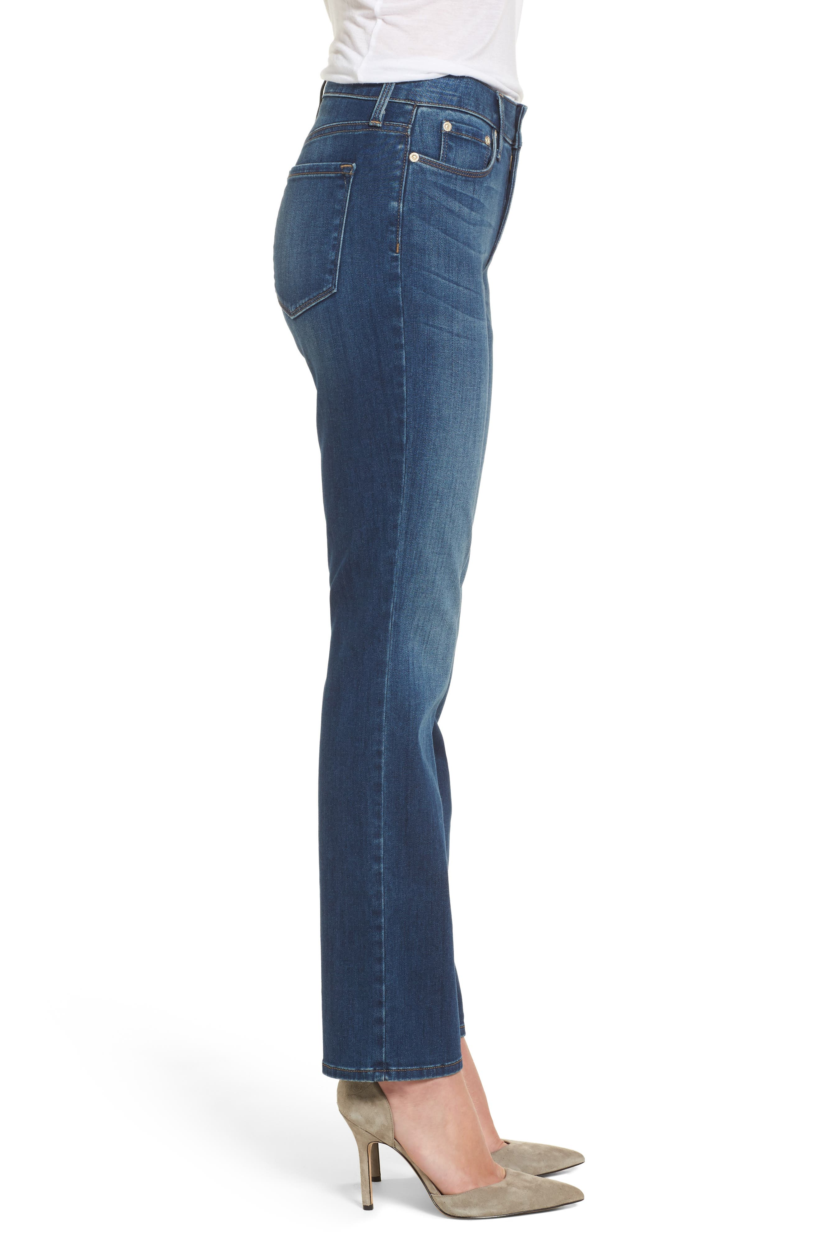 Alternate Image 3  - NYDJ Marilyn Stretch Straight Leg Jeans (Anson)