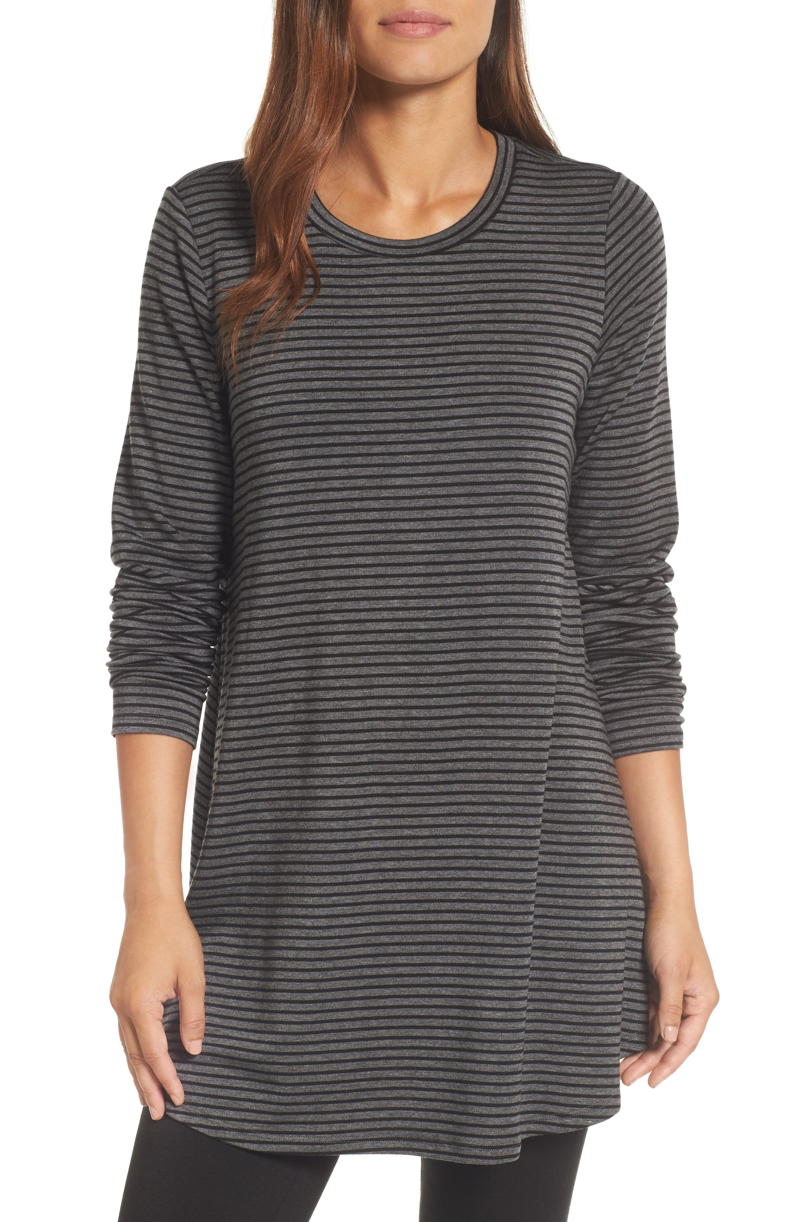 Eileen Fisher Stripe Stretch Tencel® Knit Tunic