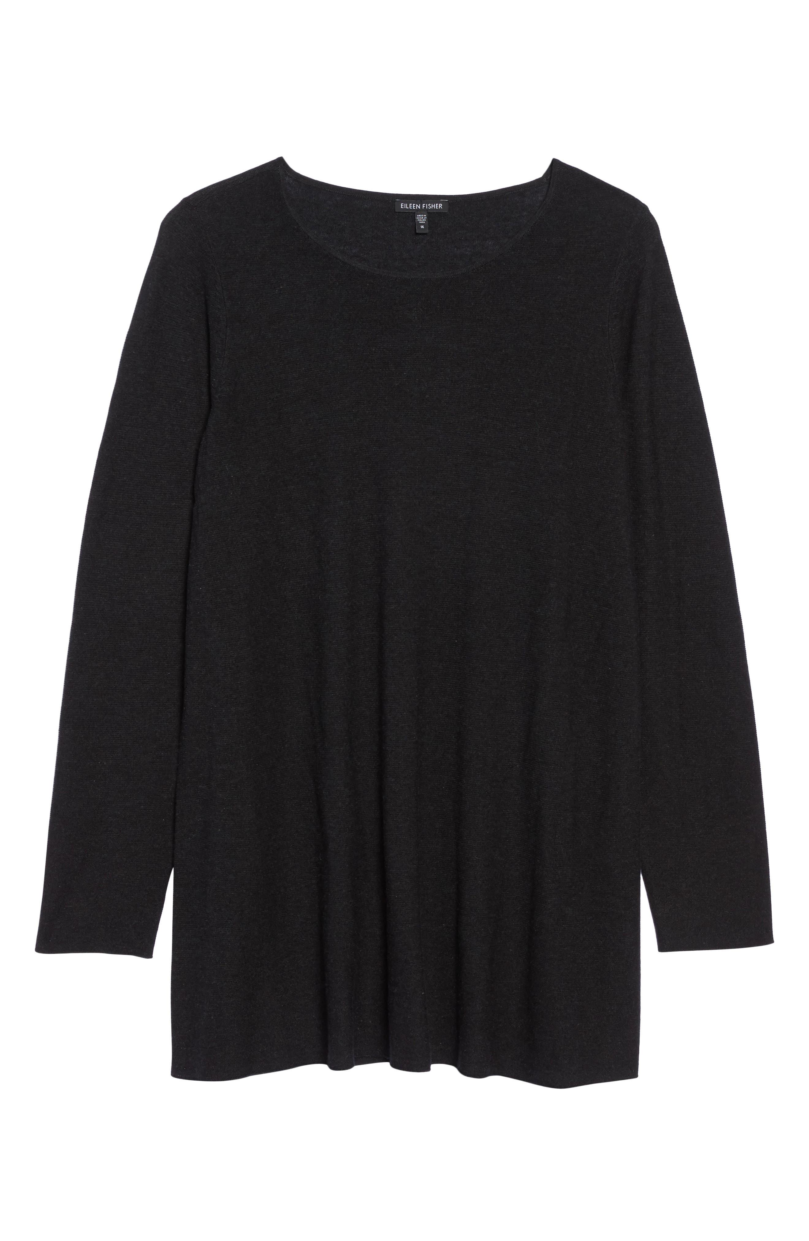 Alternate Image 6  - Eileen Fisher Jewel Neck Tunic Sweater (Plus Size)