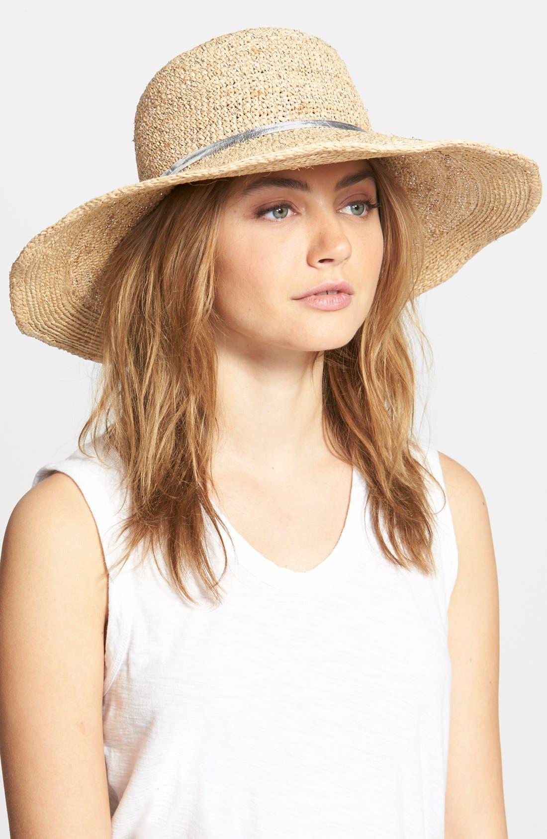 Main Image - Flora Bella Crochet Raffia Sun Hat