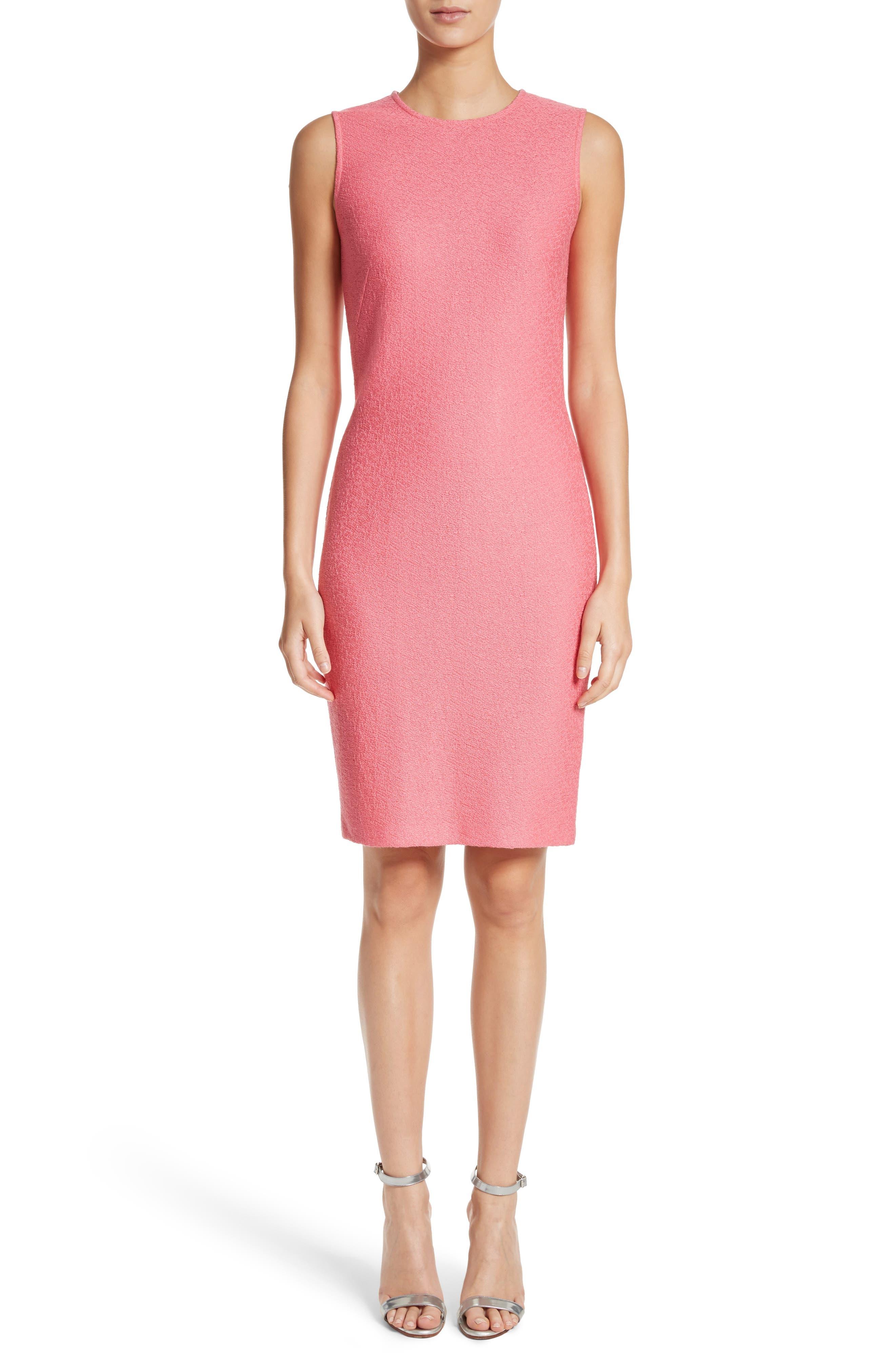 Hannah Knit Sheath Dress,                         Main,                         color, Bright Coral