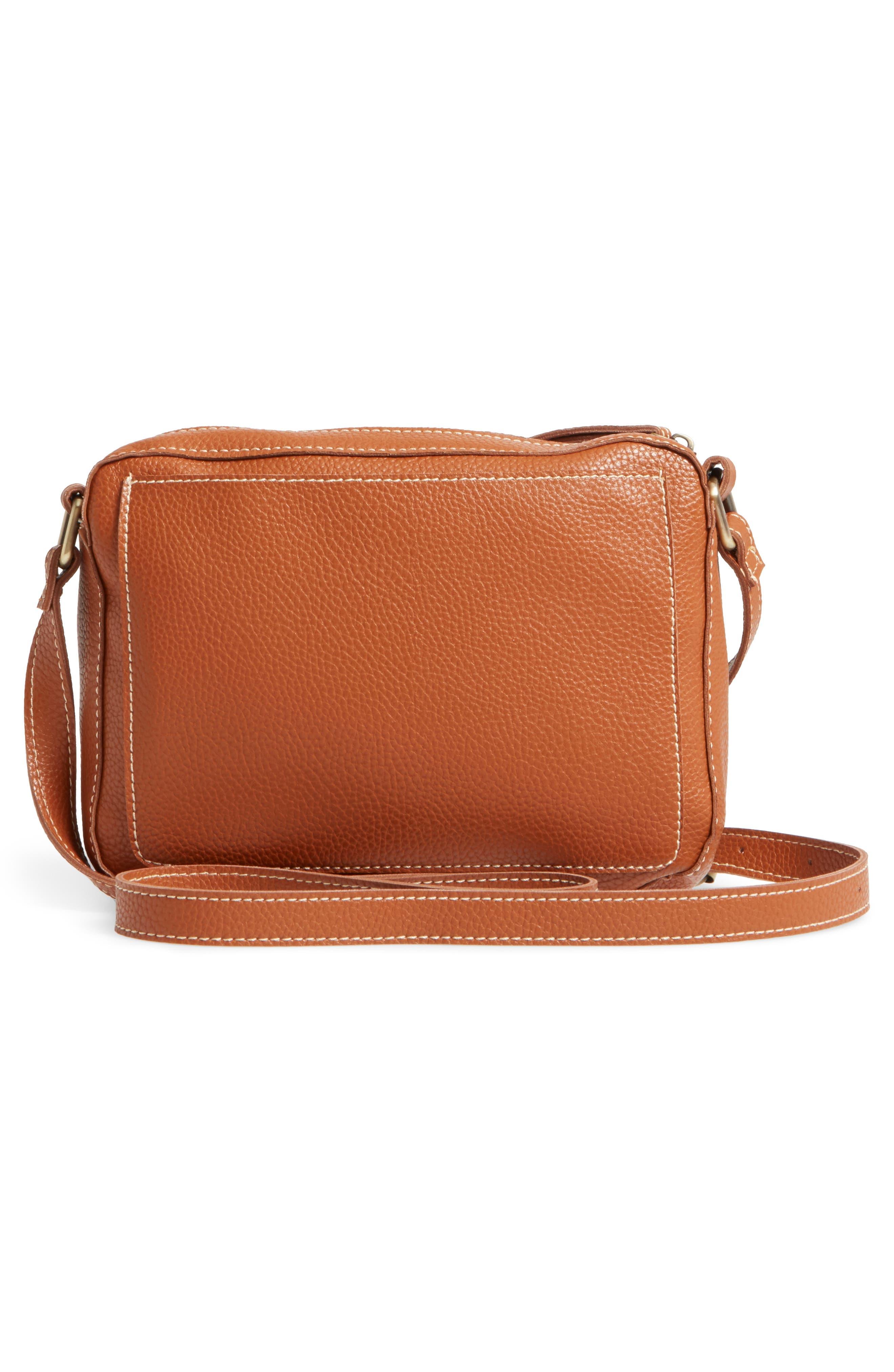 Skylar Faux Leather Crossbody Bag,                             Alternate thumbnail 2, color,                             Saddle