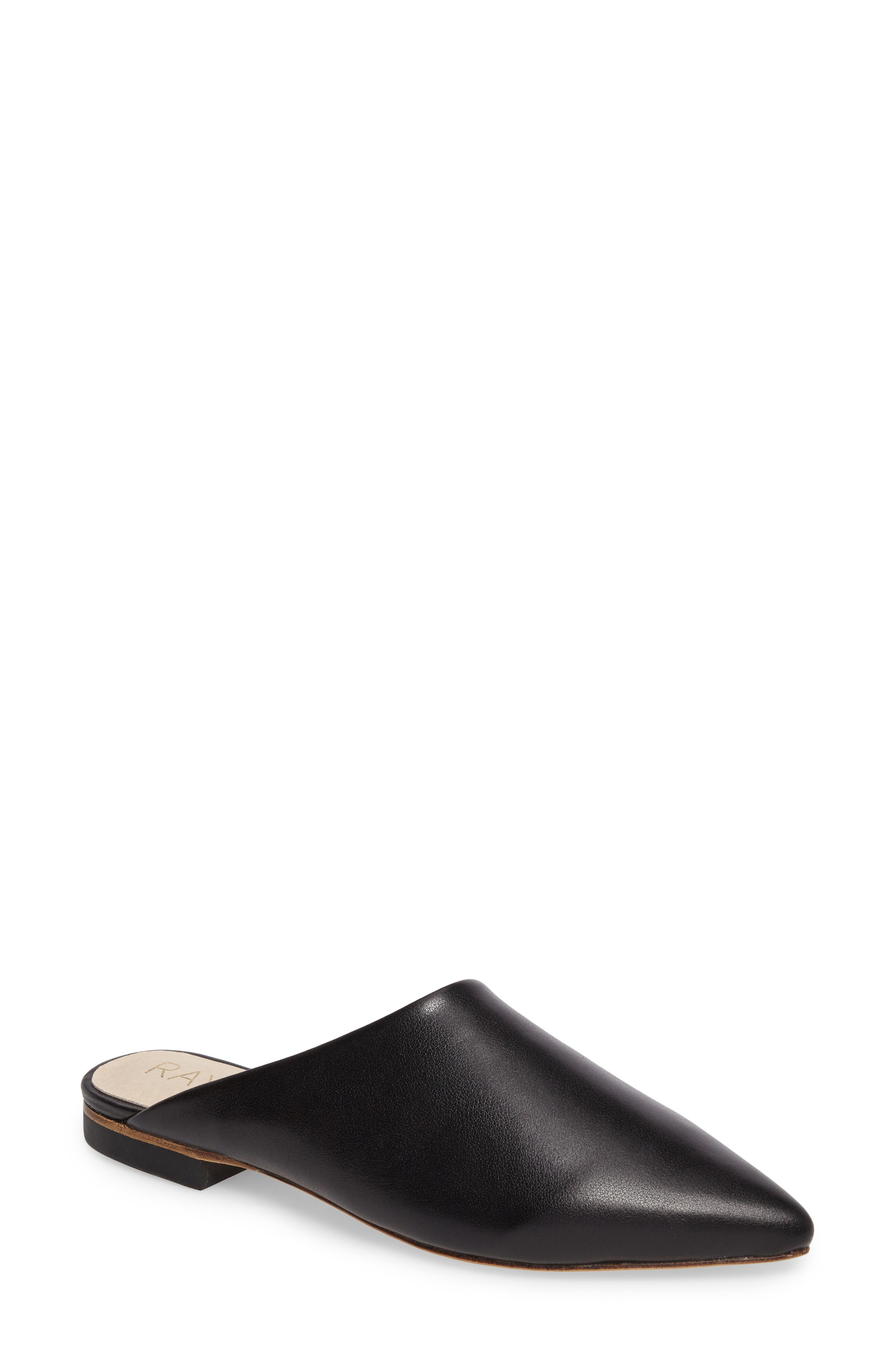 Starlet Mule,                             Main thumbnail 1, color,                             Black Leather