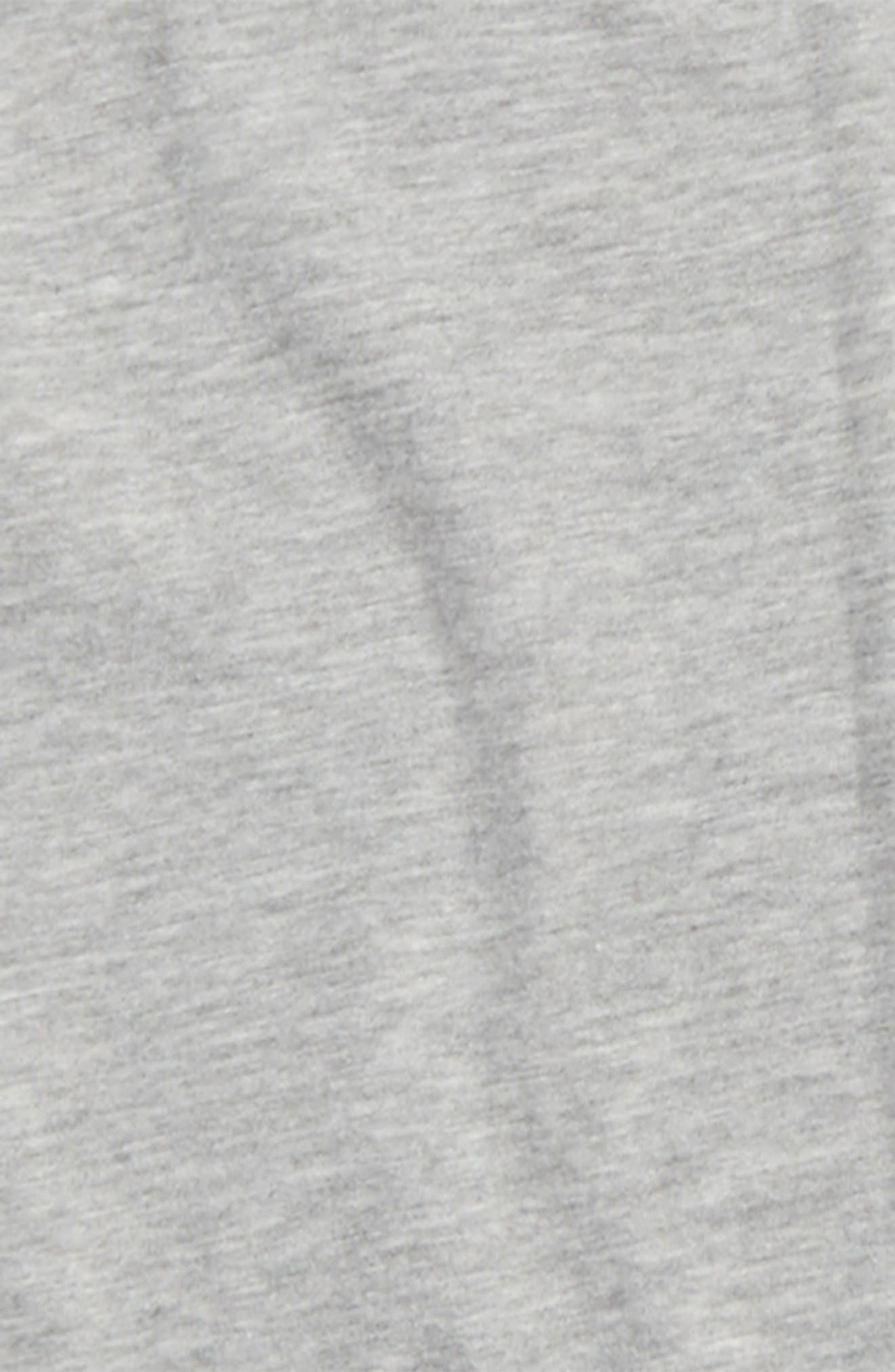 Embroidered Back Shirt,                             Alternate thumbnail 3, color,                             Grey Medium Heather