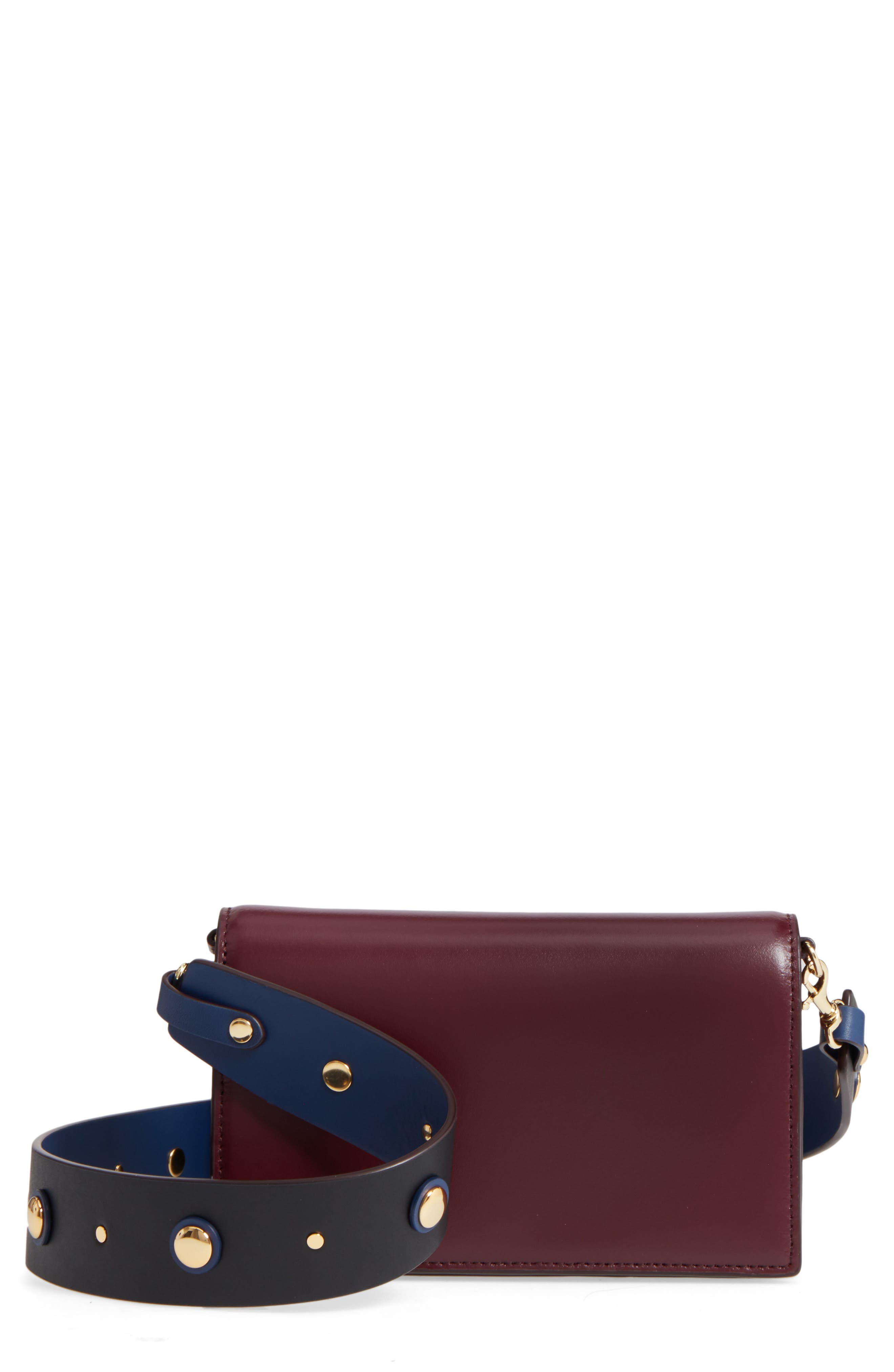 DIANE VON FURSTENBERG Soirée Leather Convertible Crossbody Bag