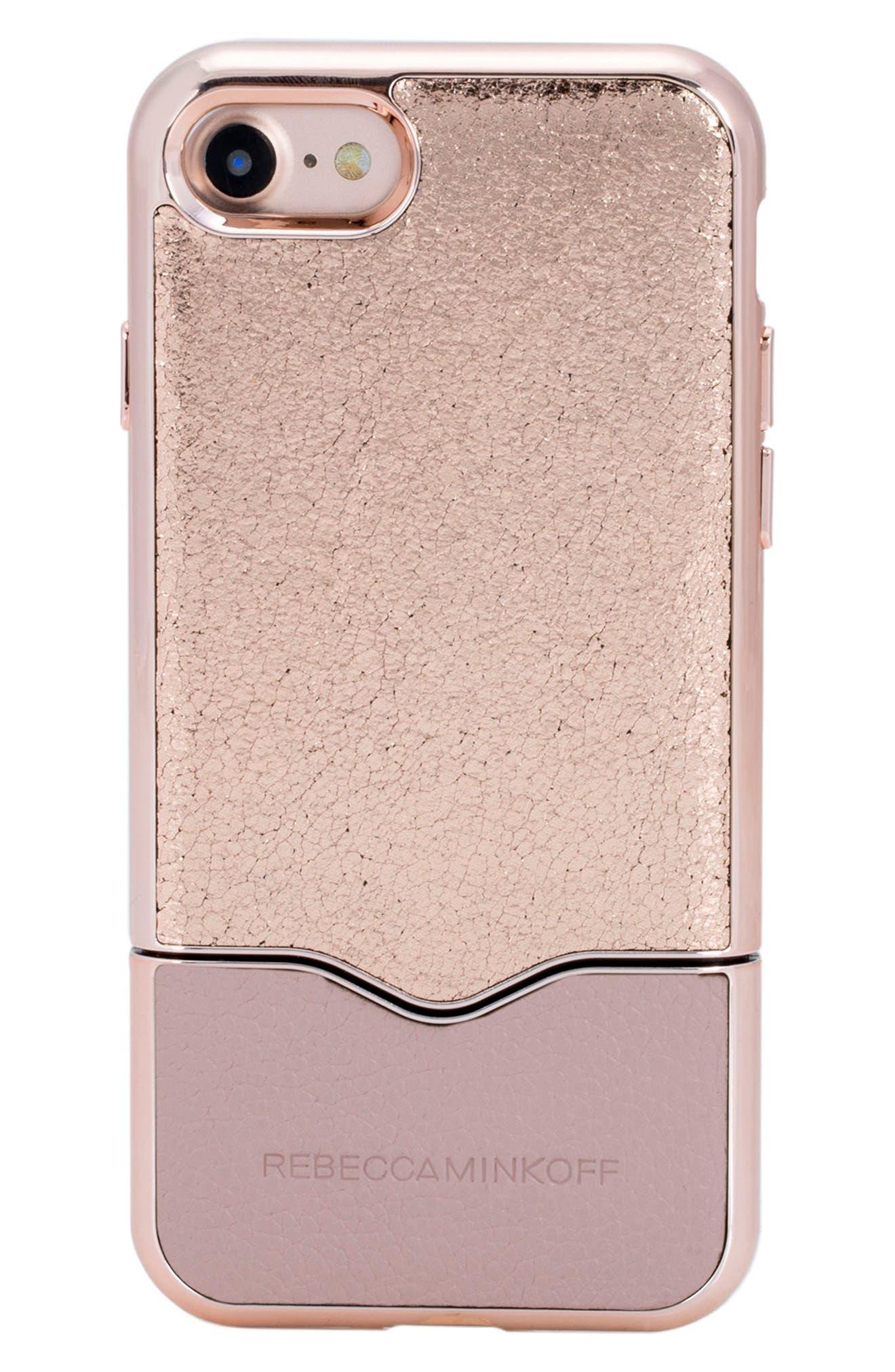 Slide iPhone 7 Case,                         Main,                         color, Rose Gold Nude