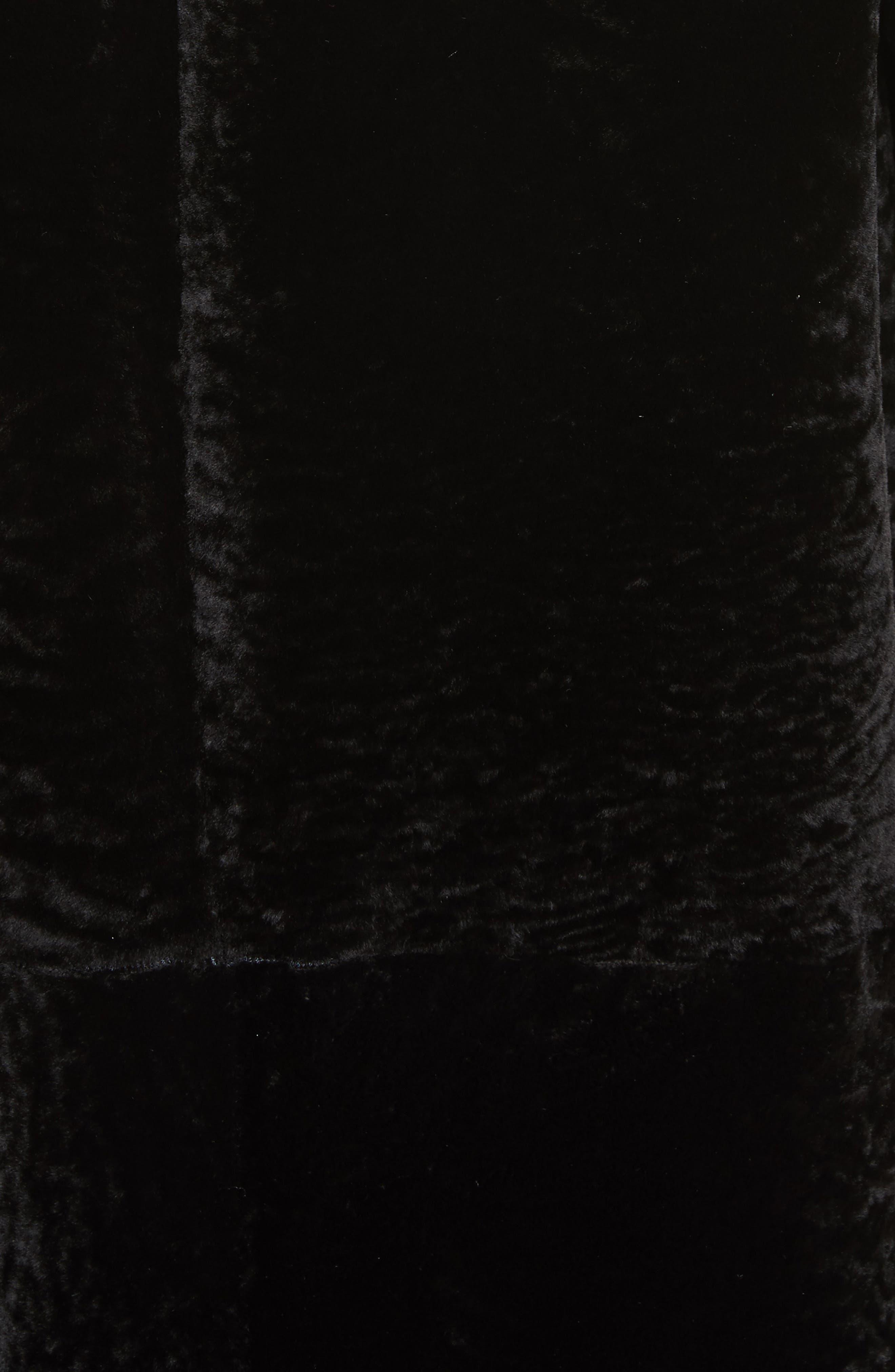 Genuine Textured Lamb Fur Jacket,                             Alternate thumbnail 6, color,                             Caviar