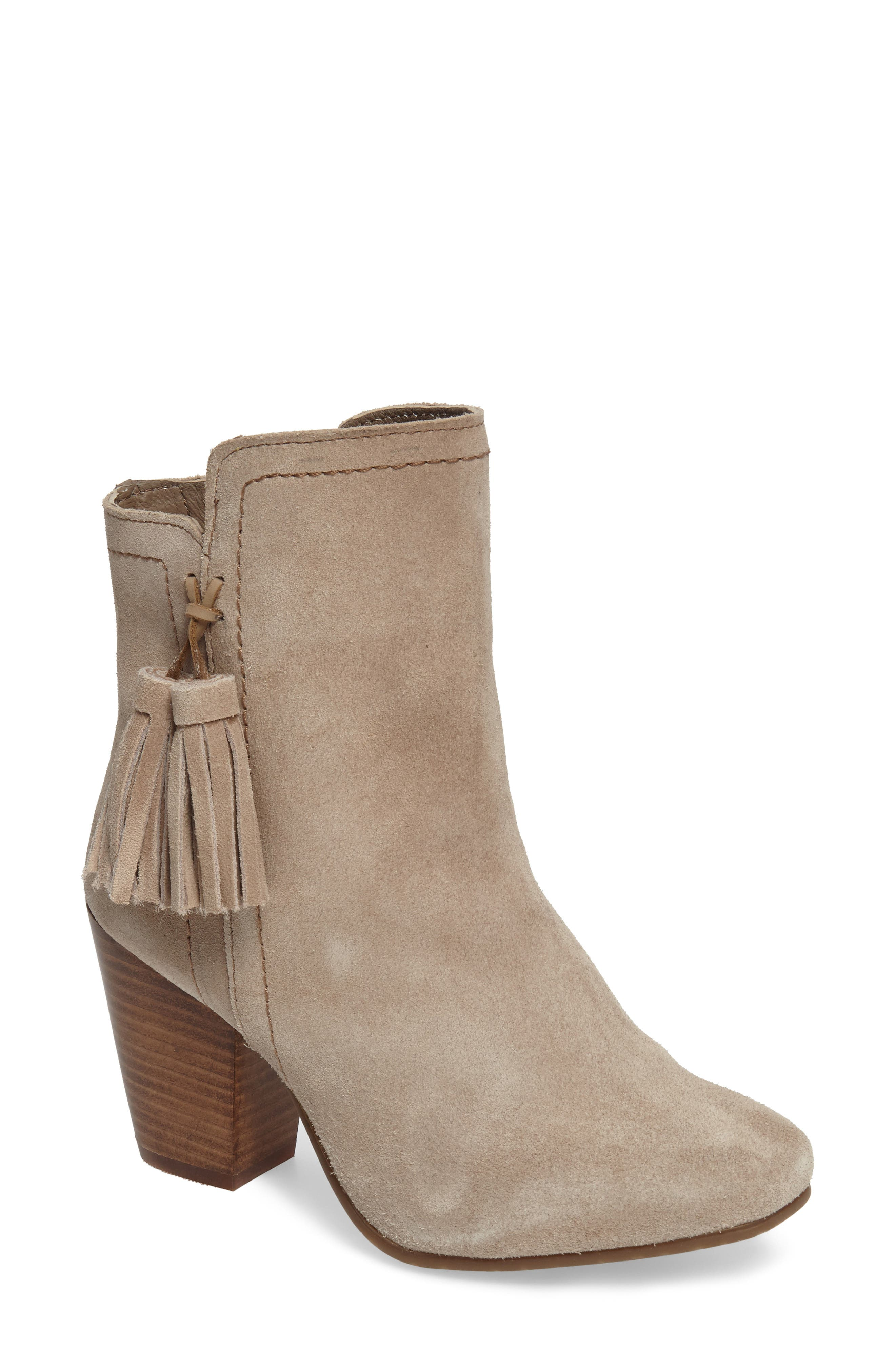 Daisee Billie Bootie,                             Main thumbnail 1, color,                             Taupe Suede