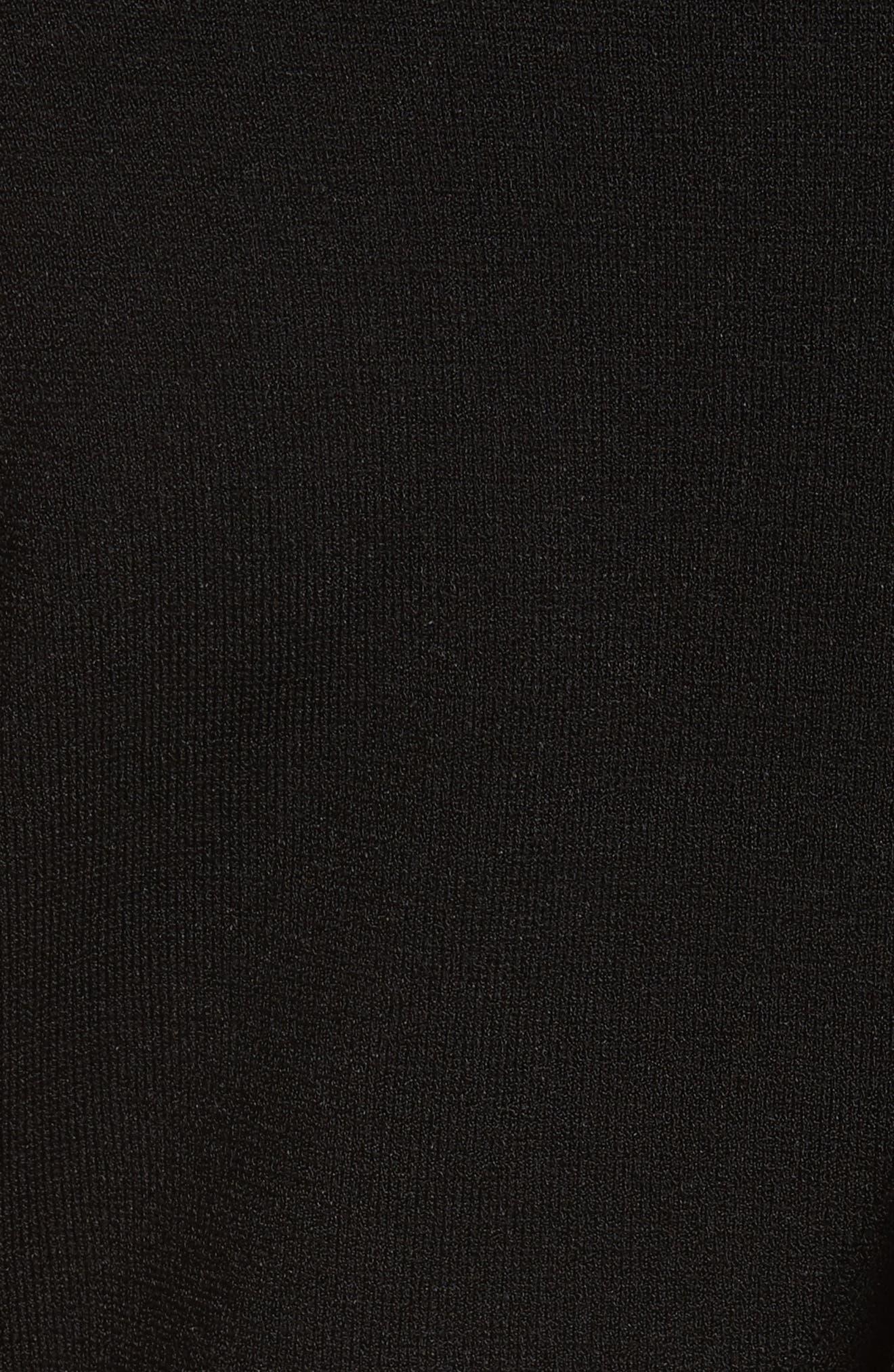 Asymmetrical Ruffle Dress,                             Alternate thumbnail 5, color,                             Black