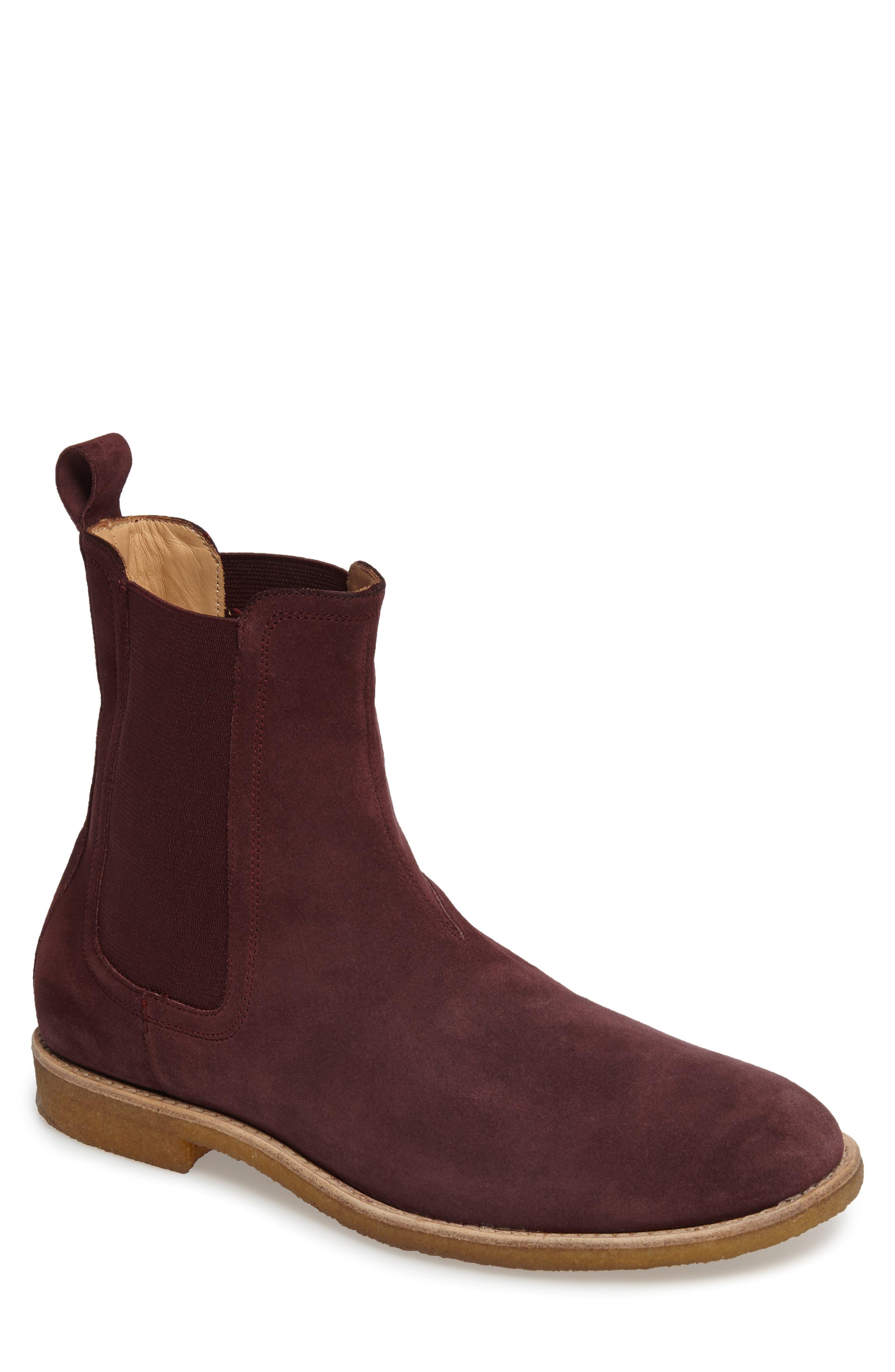 Chelsea Boot,                             Main thumbnail 1, color,                             Prunga Burgundy