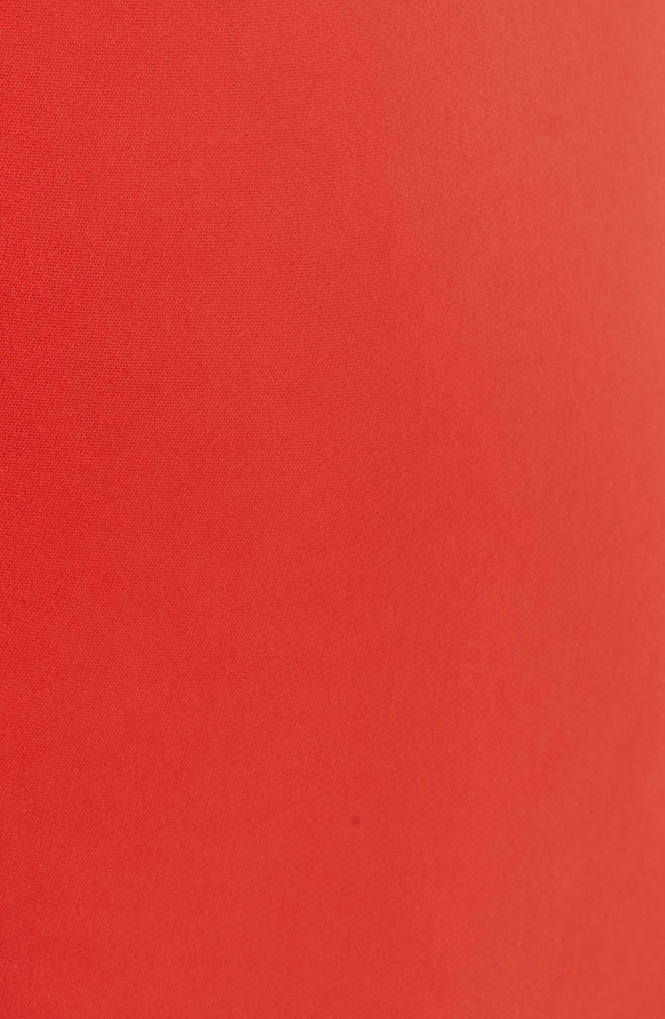 Bow Back Asymmetrical Dress,                             Alternate thumbnail 6, color,                             Red