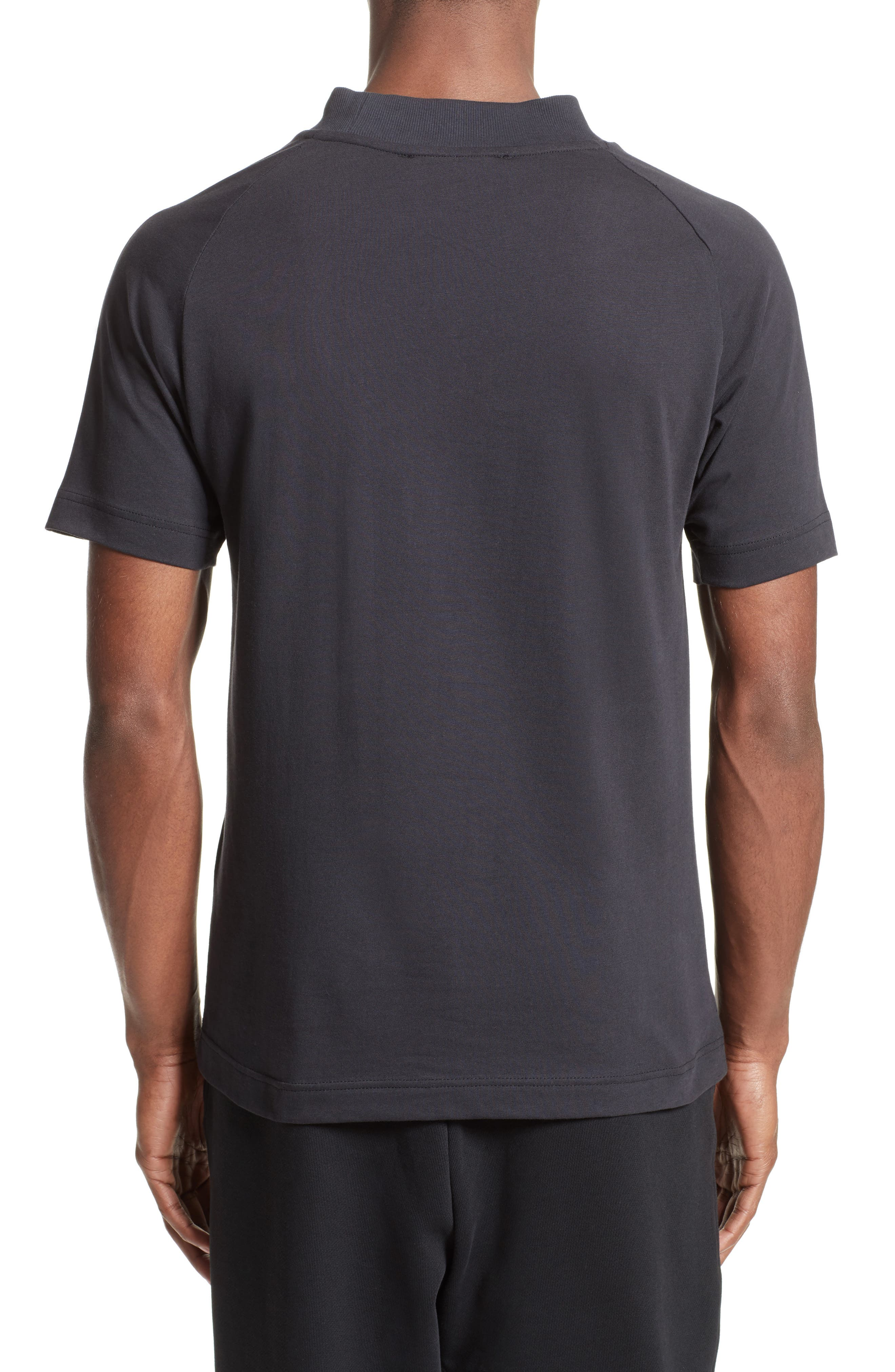 Embossed Logo T-Shirt,                             Alternate thumbnail 2, color,                             Black